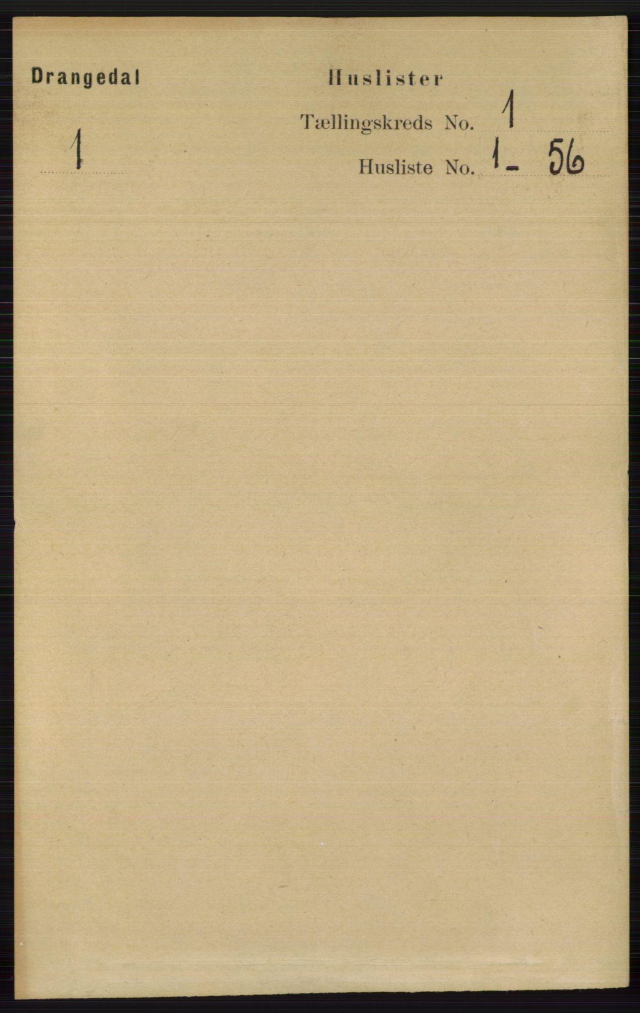 RA, Folketelling 1891 for 0817 Drangedal herred, 1891, s. 31