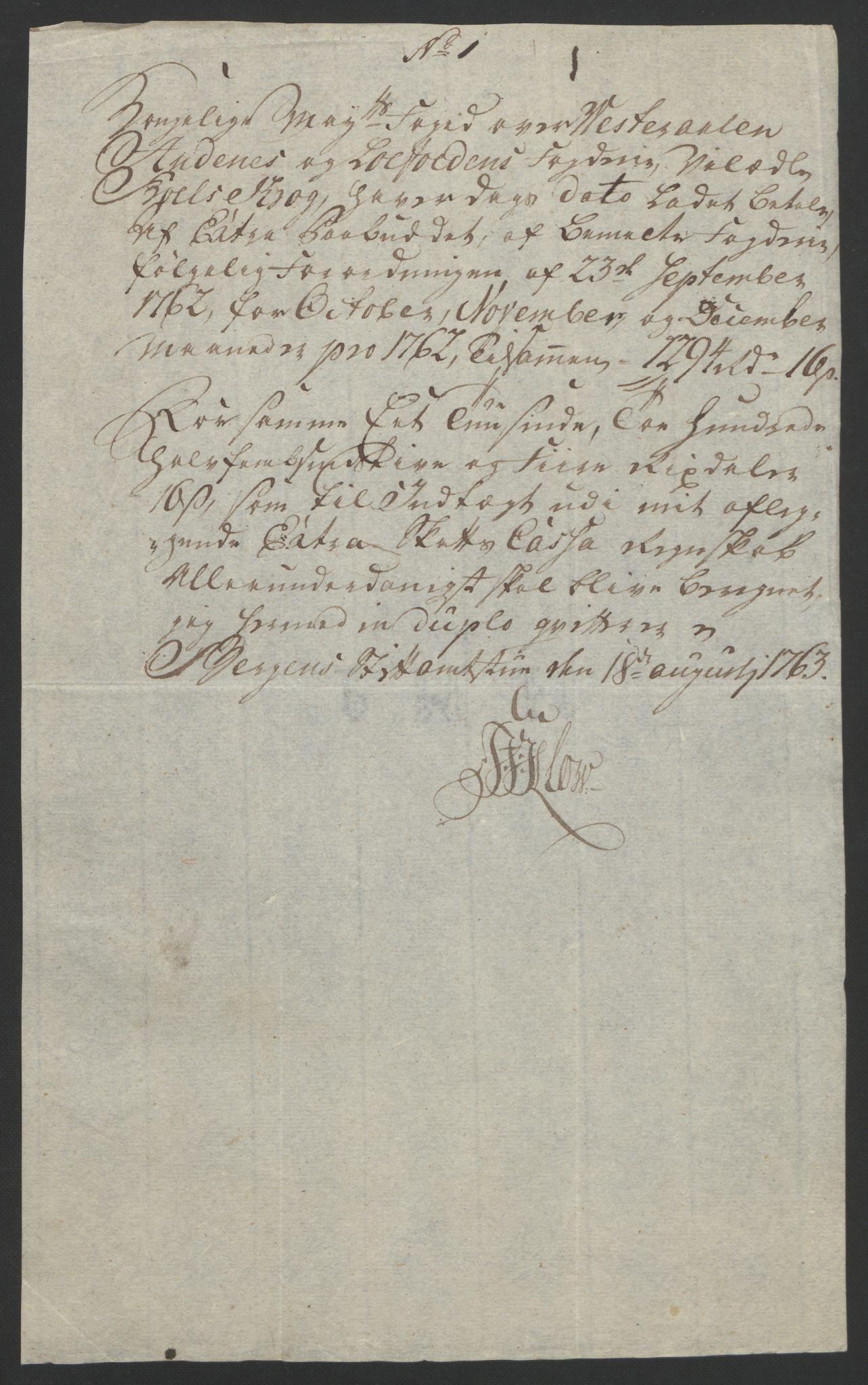 RA, Rentekammeret inntil 1814, Reviderte regnskaper, Fogderegnskap, R67/L4747: Ekstraskatten Vesterålen, Andenes og Lofoten, 1762-1766, s. 31