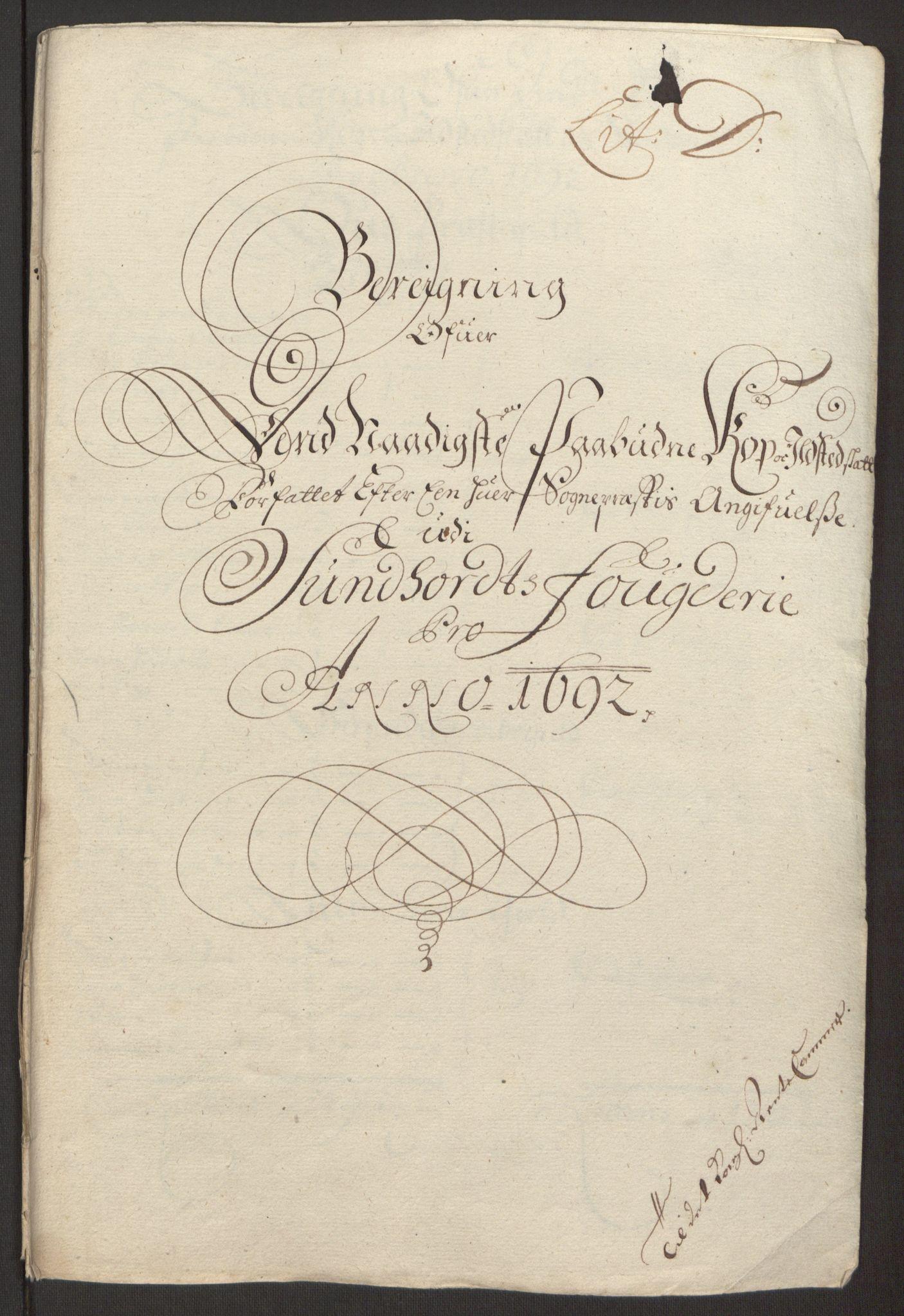 RA, Rentekammeret inntil 1814, Reviderte regnskaper, Fogderegnskap, R48/L2973: Fogderegnskap Sunnhordland og Hardanger, 1691-1692, s. 396