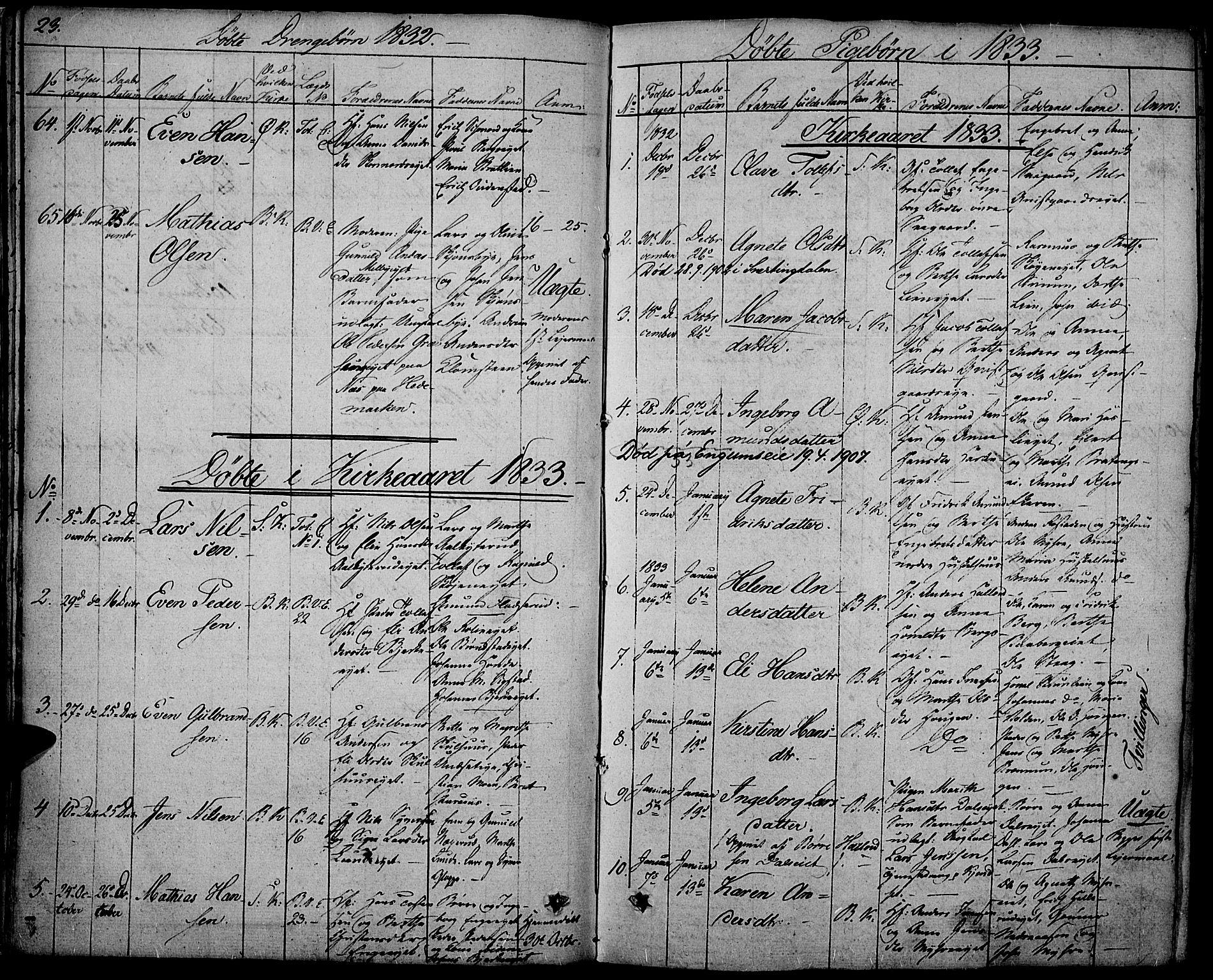 SAH, Biri prestekontor, Ministerialbok nr. 4, 1829-1842, s. 23