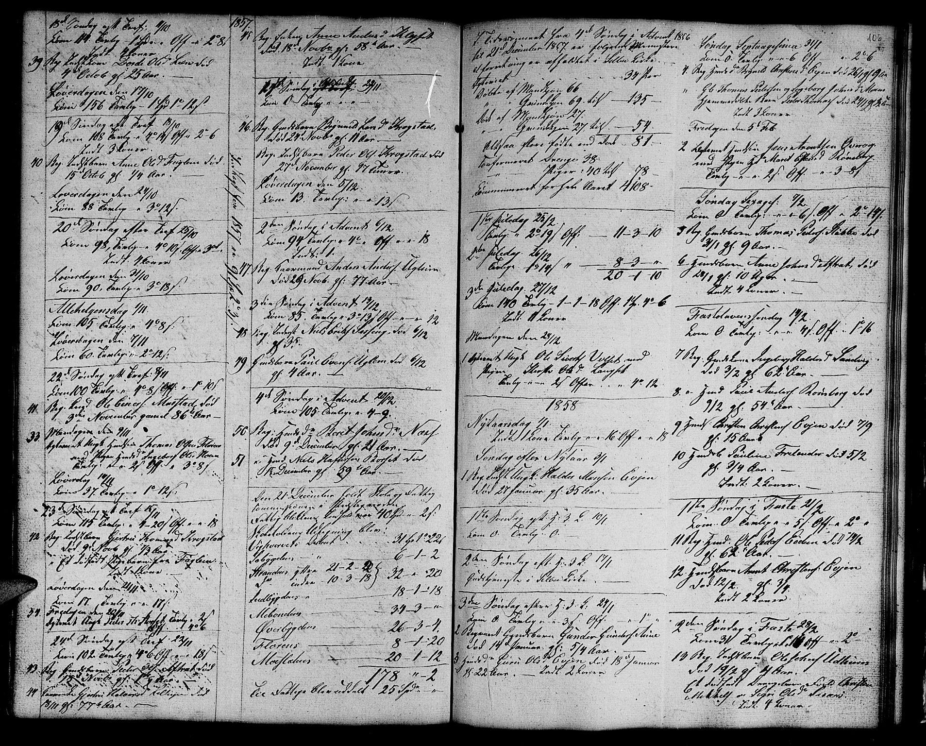SAT, Ministerialprotokoller, klokkerbøker og fødselsregistre - Sør-Trøndelag, 695/L1154: Klokkerbok nr. 695C05, 1842-1858, s. 106