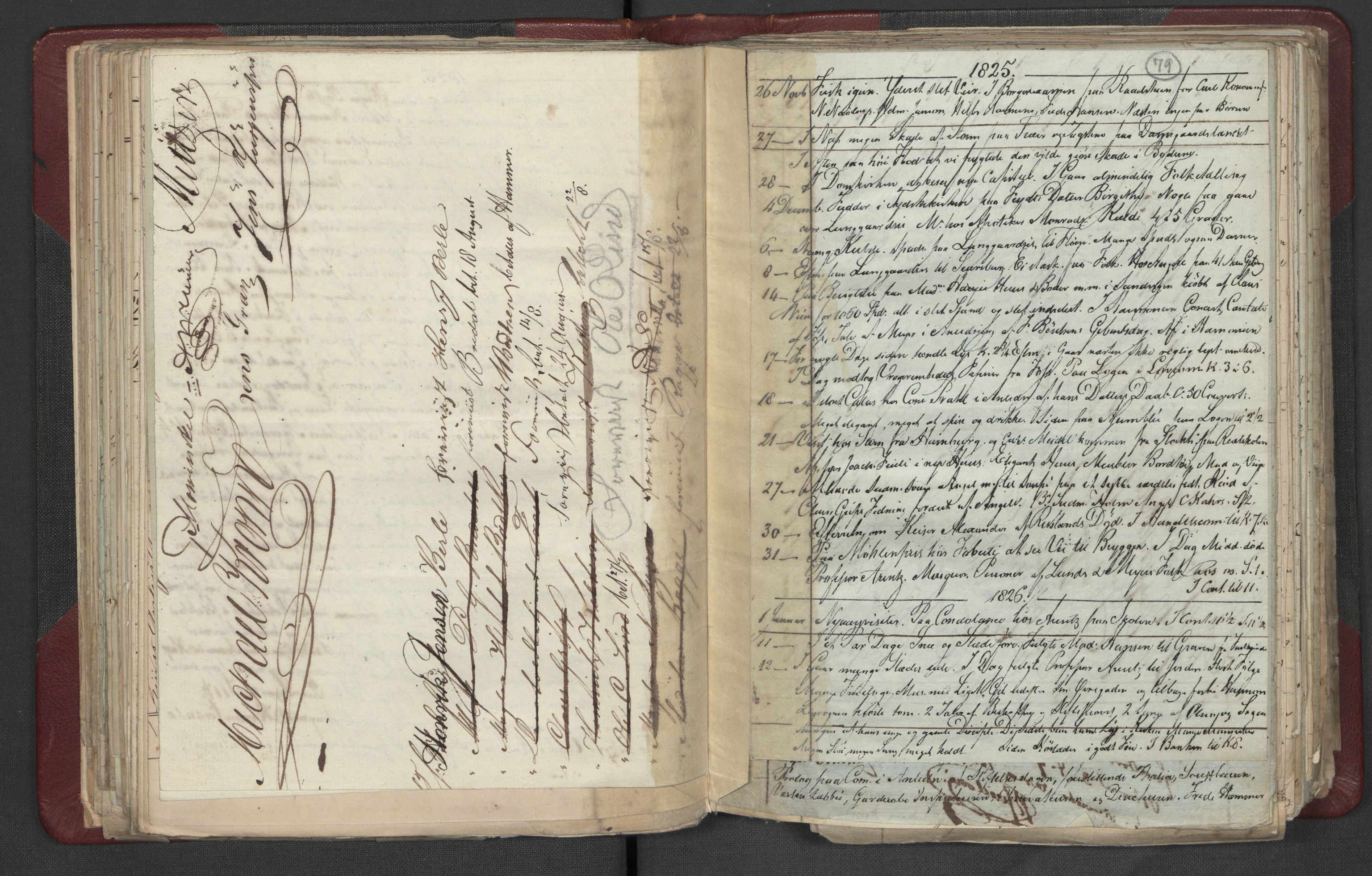 RA, Meltzer, Fredrik, F/L0003: Dagbok, 1821-1831, s. 78b-79a