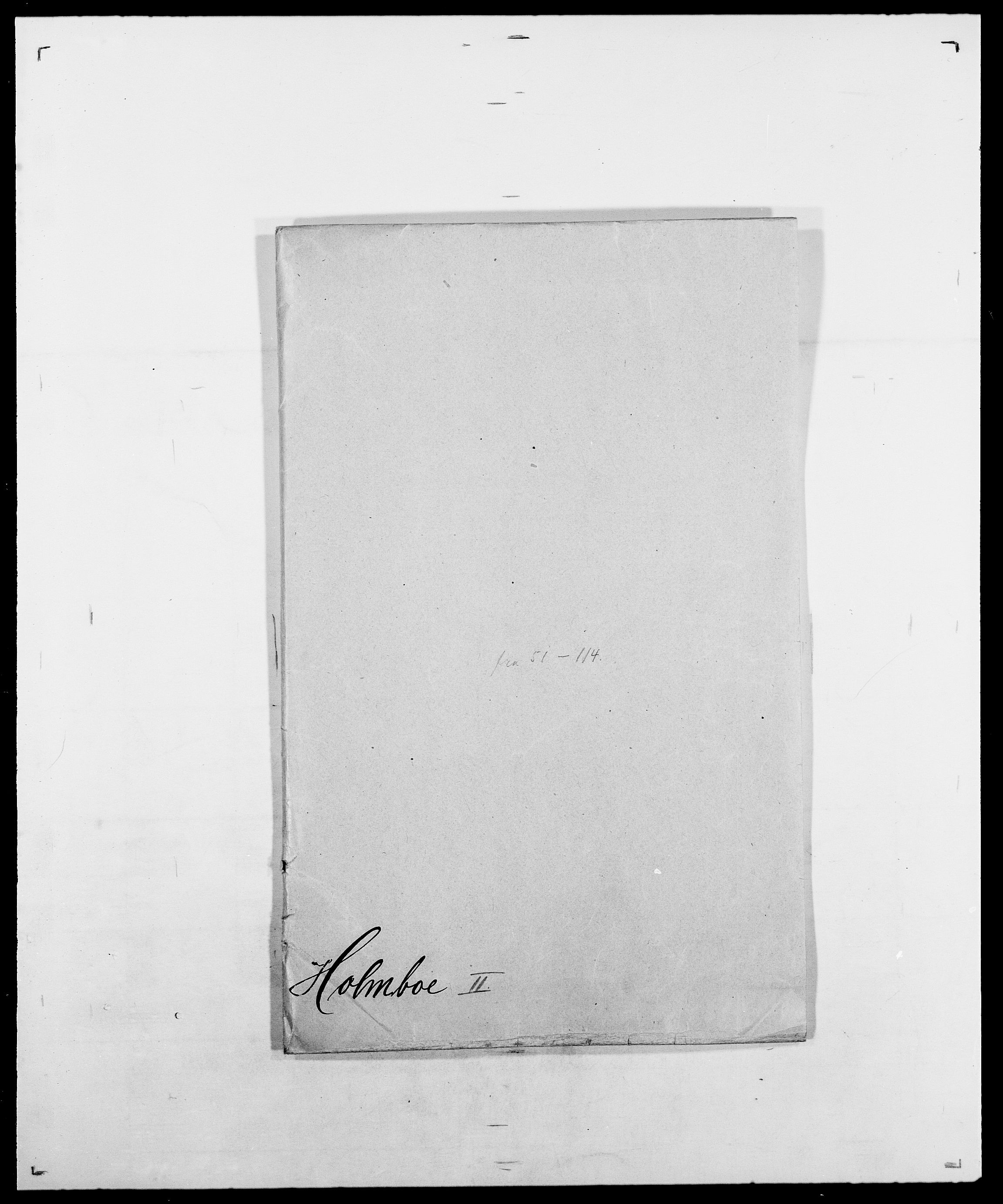 SAO, Delgobe, Charles Antoine - samling, D/Da/L0018: Hoch - Howert, s. 551