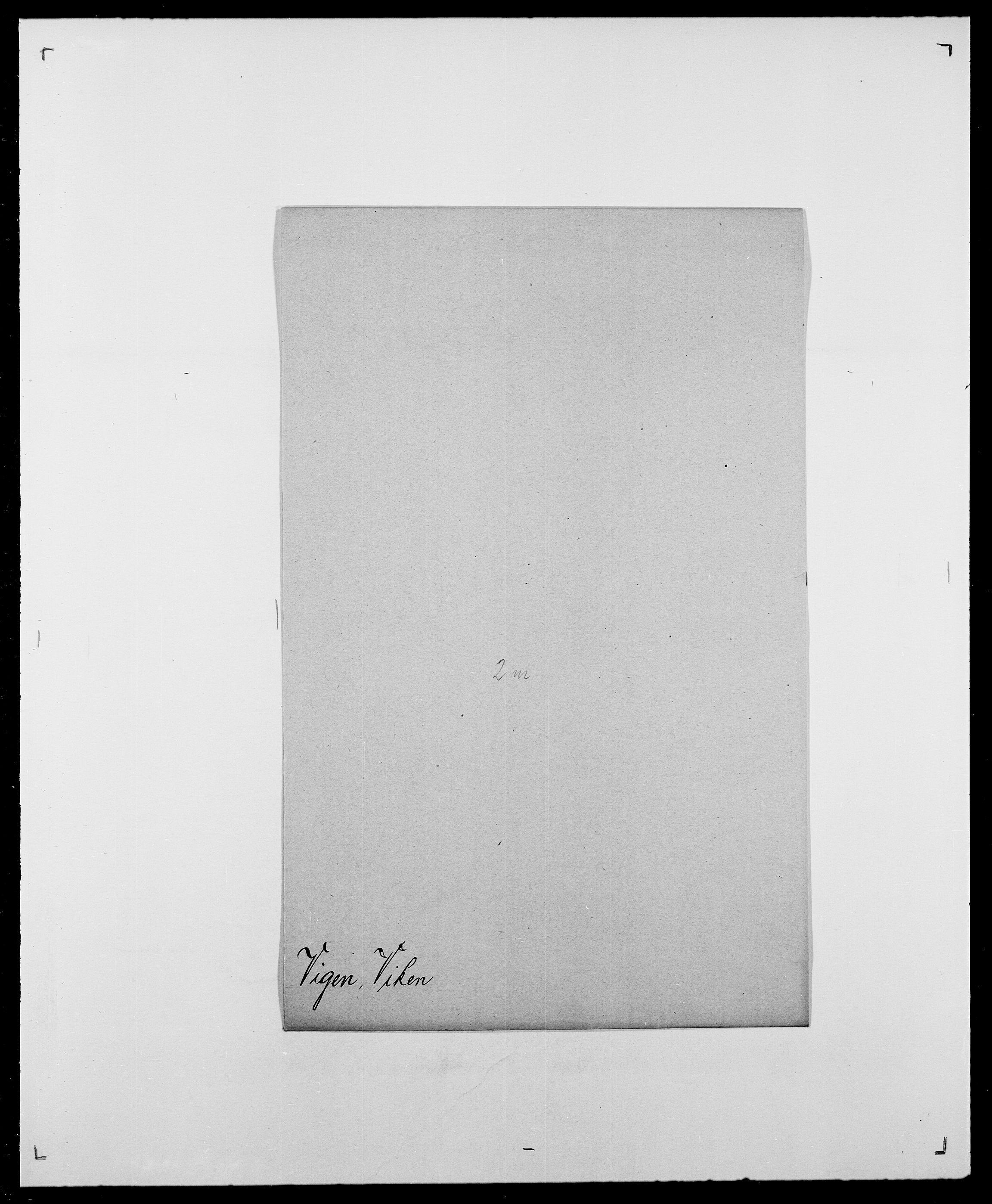 SAO, Delgobe, Charles Antoine - samling, D/Da/L0041: Vemmestad - Viker, s. 688