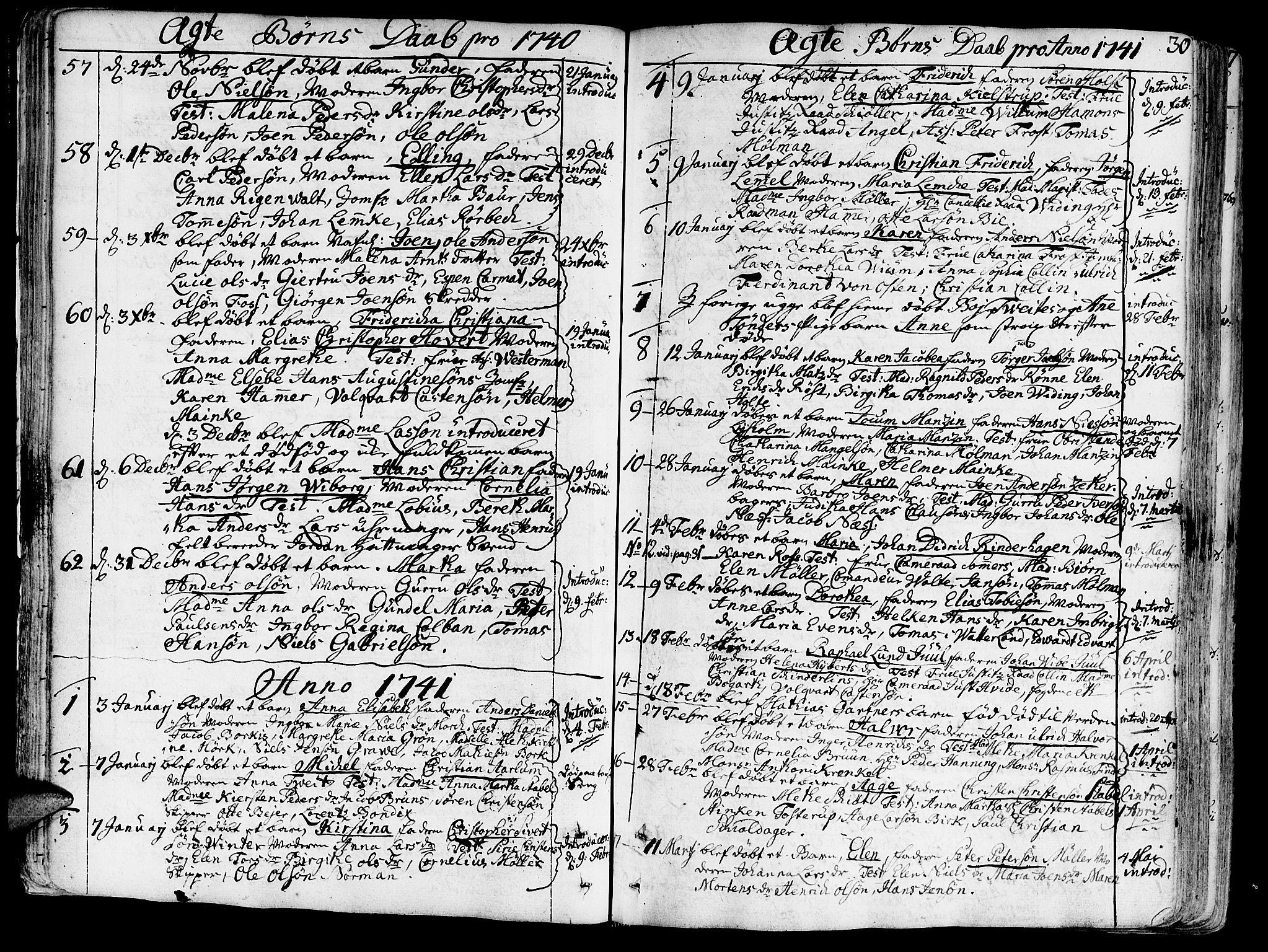 SAT, Ministerialprotokoller, klokkerbøker og fødselsregistre - Sør-Trøndelag, 602/L0103: Ministerialbok nr. 602A01, 1732-1774, s. 30