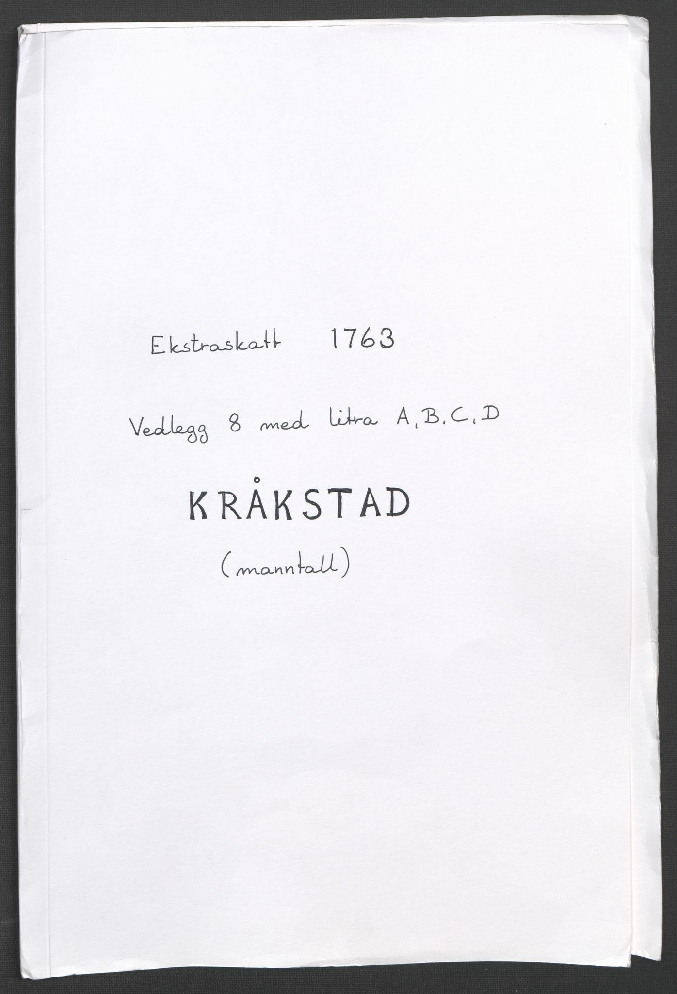 RA, Rentekammeret inntil 1814, Reviderte regnskaper, Fogderegnskap, R10/L0560: Ekstraskatten Aker og Follo, 1763, s. 136