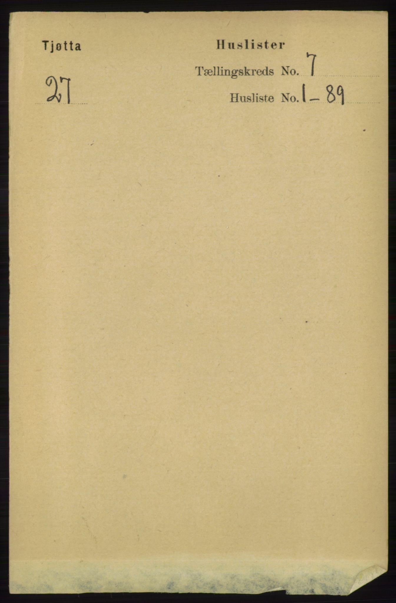 RA, Folketelling 1891 for 1817 Tjøtta herred, 1891, s. 3522