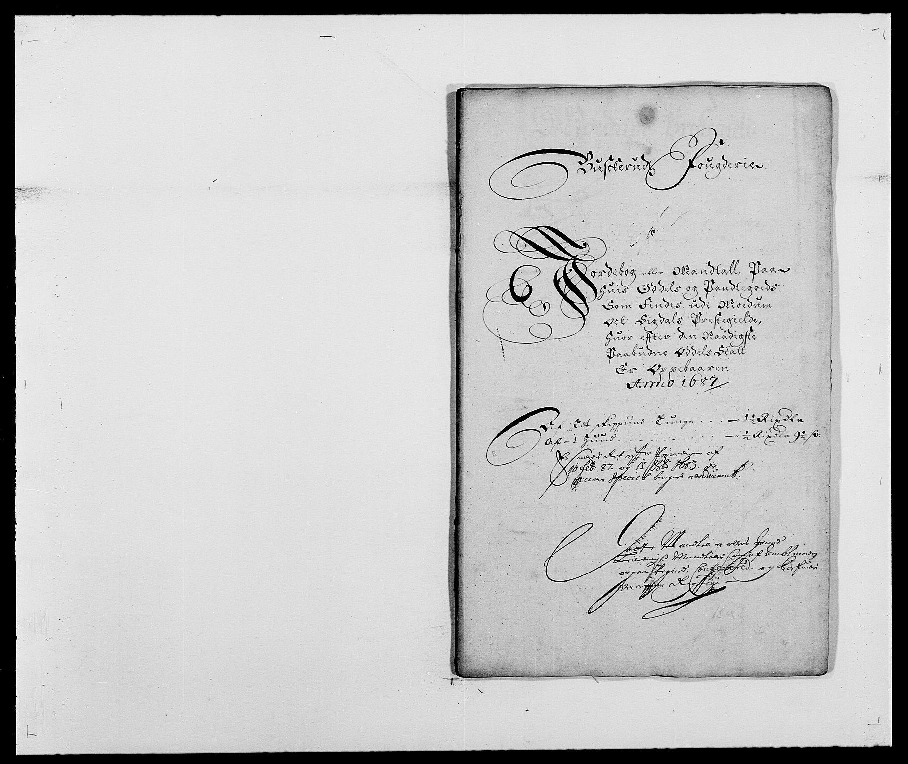 RA, Rentekammeret inntil 1814, Reviderte regnskaper, Fogderegnskap, R25/L1679: Fogderegnskap Buskerud, 1687-1688, s. 166