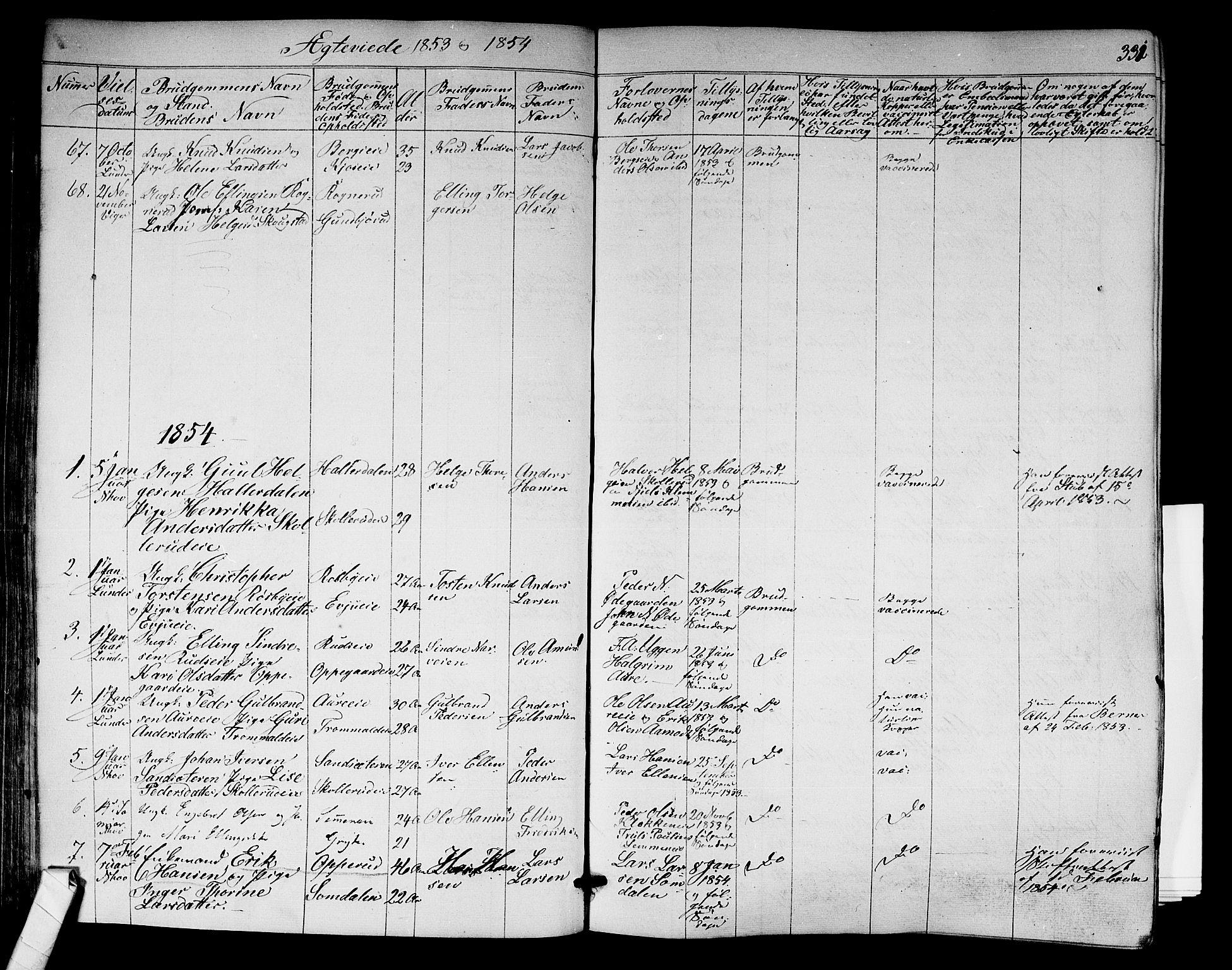 SAKO, Norderhov kirkebøker, F/Fa/L0011: Ministerialbok nr. 11, 1847-1856, s. 331