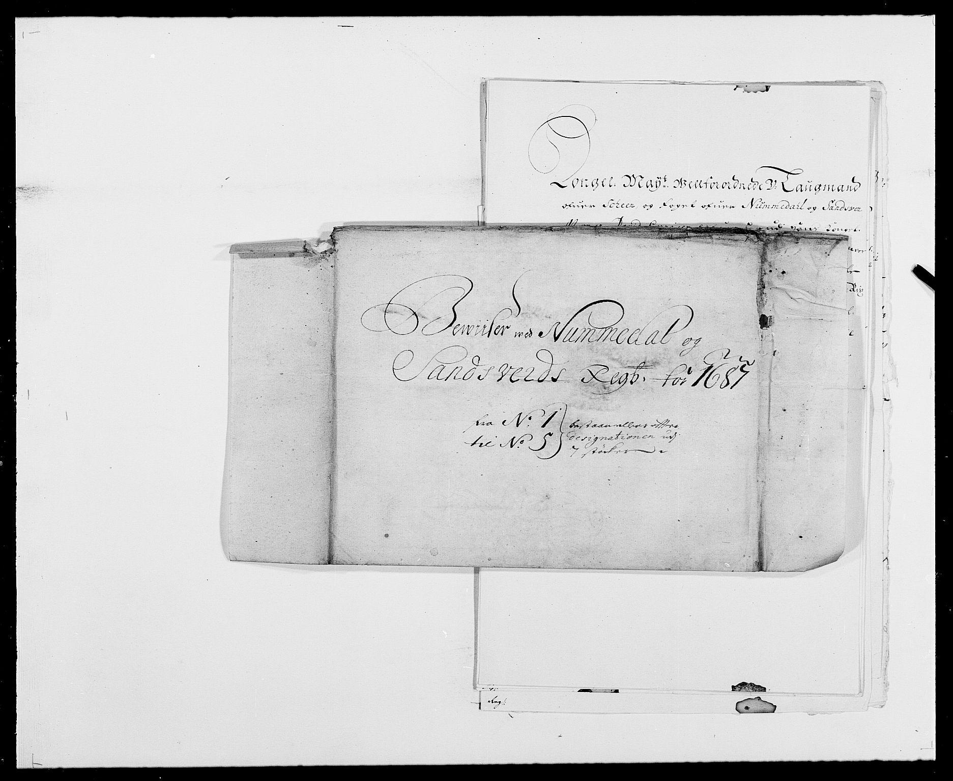 RA, Rentekammeret inntil 1814, Reviderte regnskaper, Fogderegnskap, R24/L1573: Fogderegnskap Numedal og Sandsvær, 1687-1691, s. 188