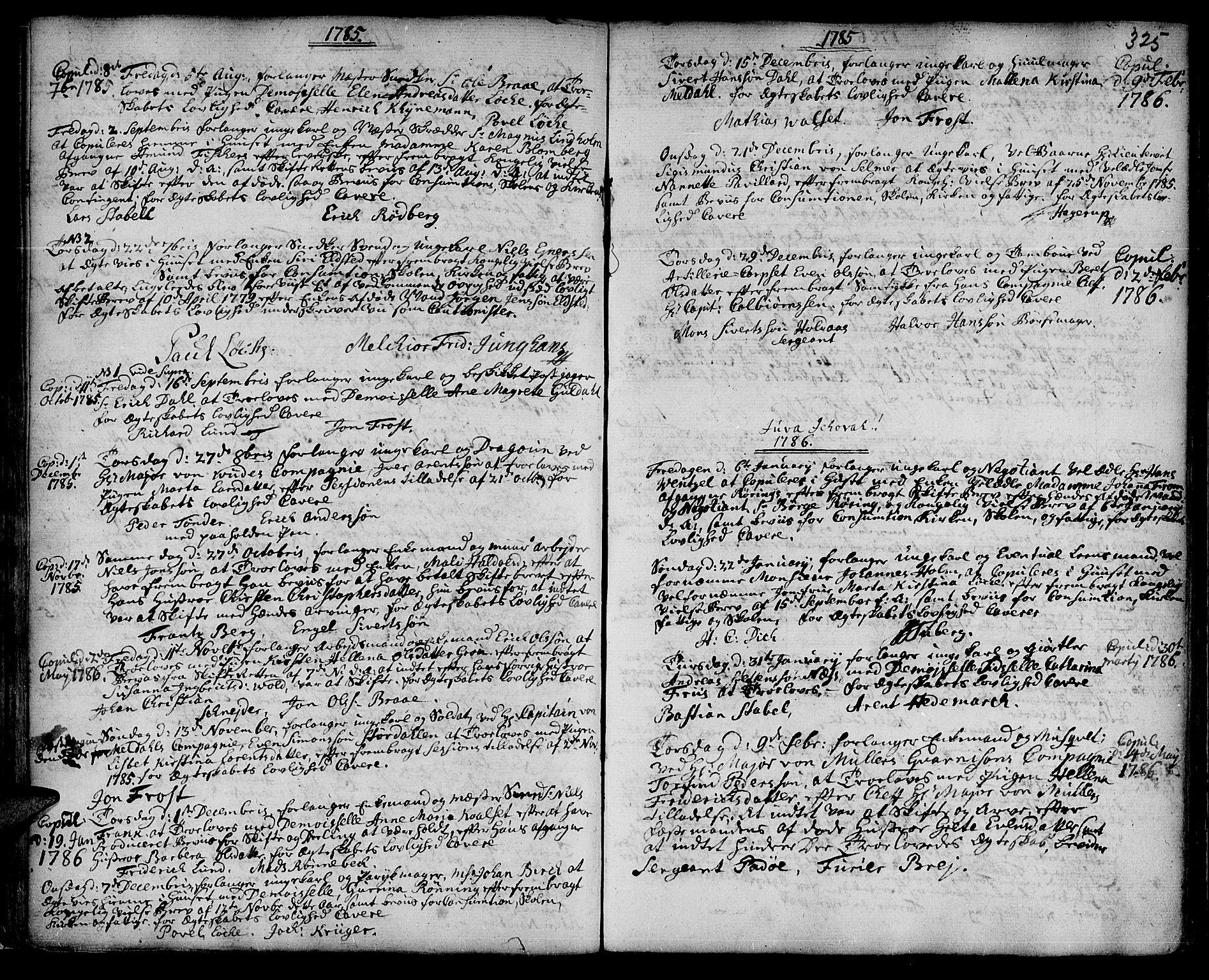 SAT, Ministerialprotokoller, klokkerbøker og fødselsregistre - Sør-Trøndelag, 601/L0038: Ministerialbok nr. 601A06, 1766-1877, s. 325