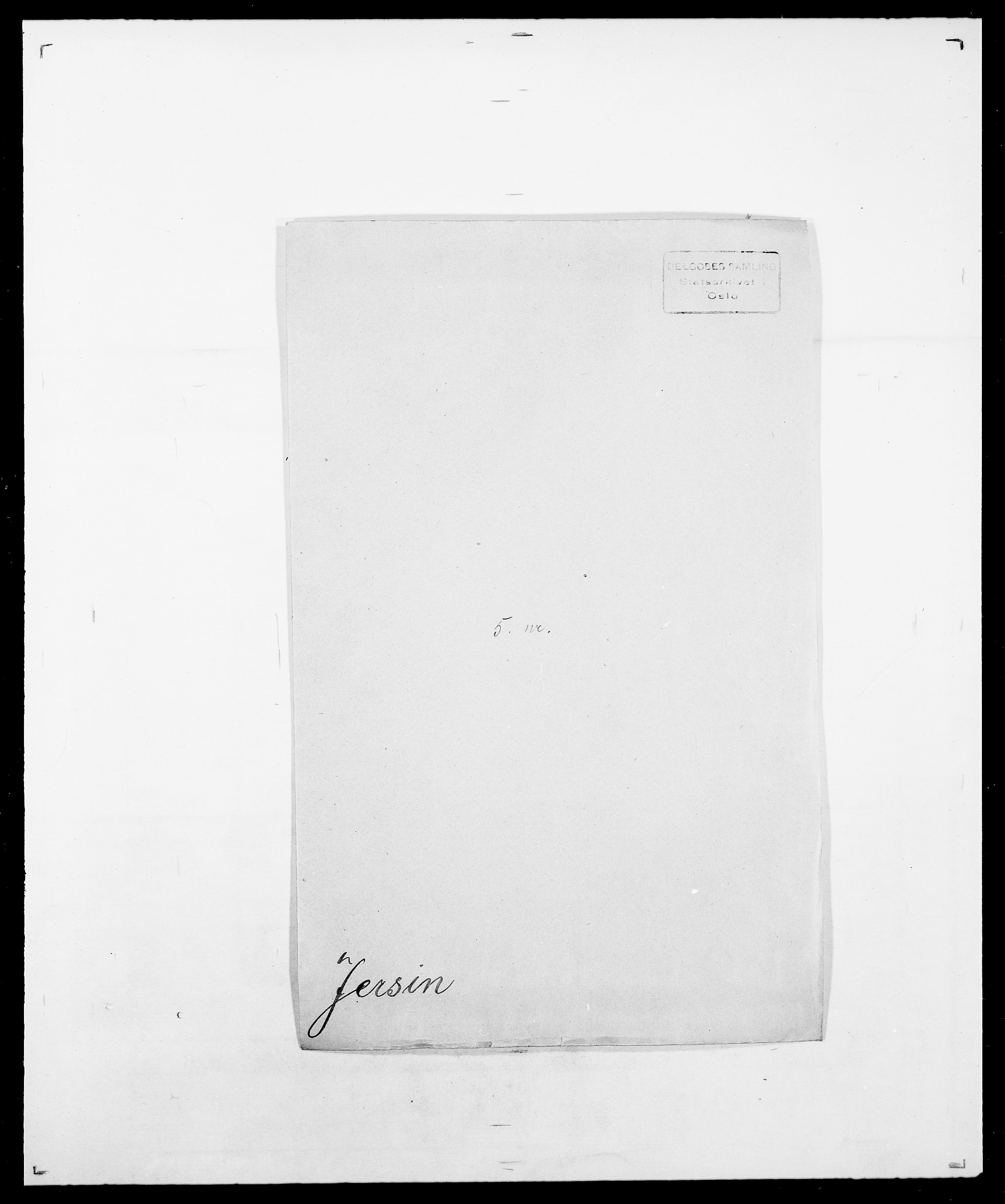 SAO, Delgobe, Charles Antoine - samling, D/Da/L0019: van der Hude - Joys, s. 706