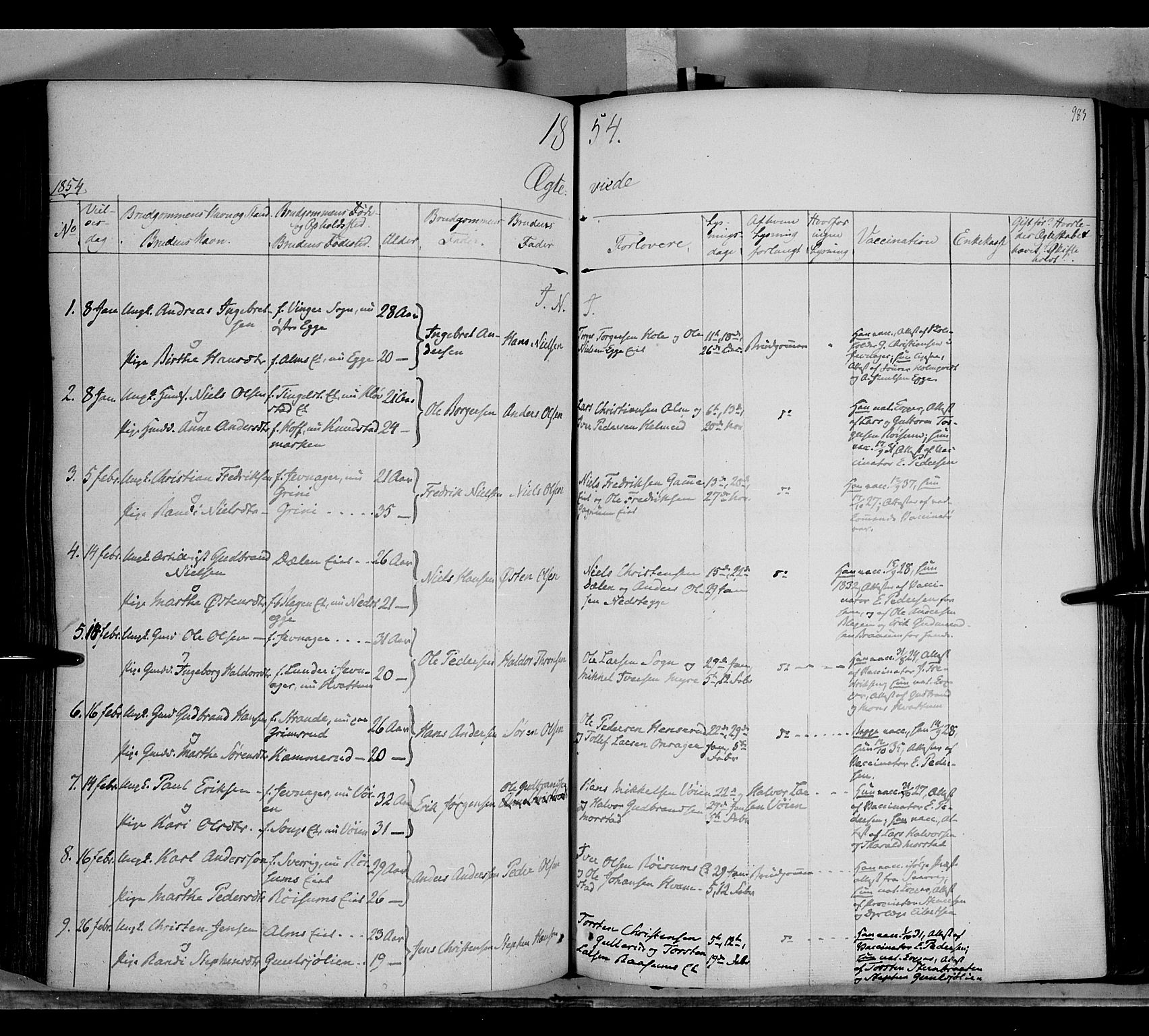 SAH, Gran prestekontor, Ministerialbok nr. 11, 1842-1856, s. 982-983