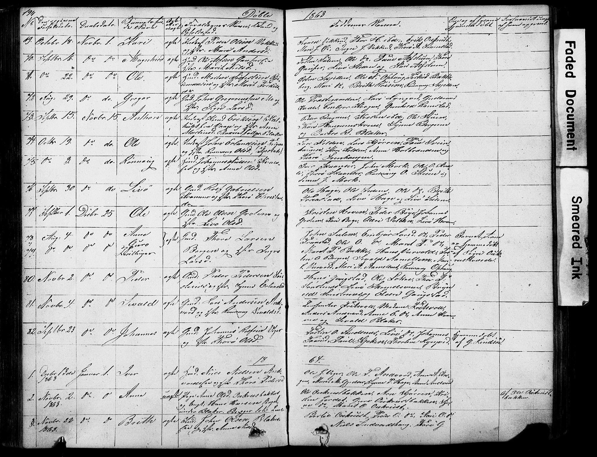 SAH, Lom prestekontor, L/L0012: Klokkerbok nr. 12, 1845-1873, s. 194-195