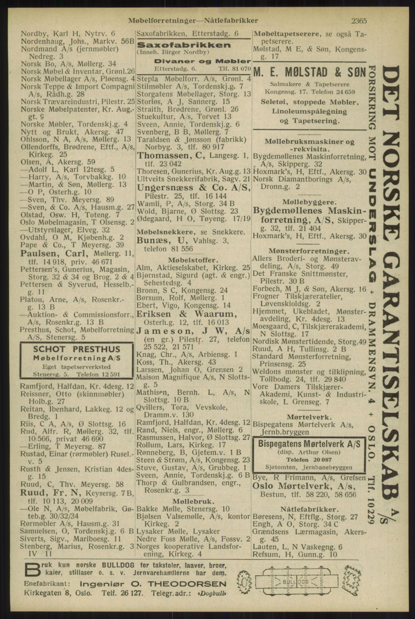 RA, Oslo adressebok (publikasjon)*, 1934, s. 2365