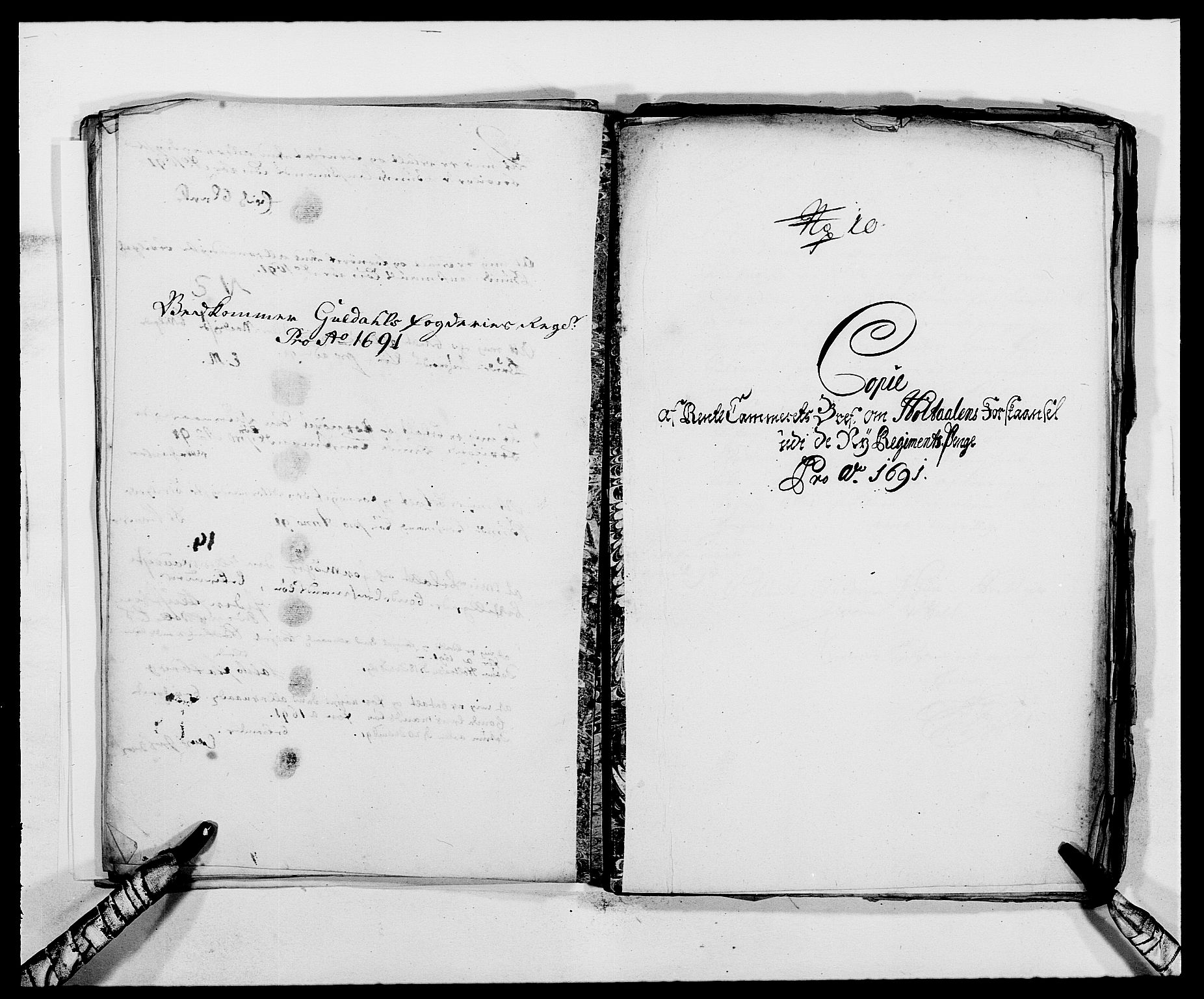 RA, Rentekammeret inntil 1814, Reviderte regnskaper, Fogderegnskap, R59/L3941: Fogderegnskap Gauldal, 1691, s. 201