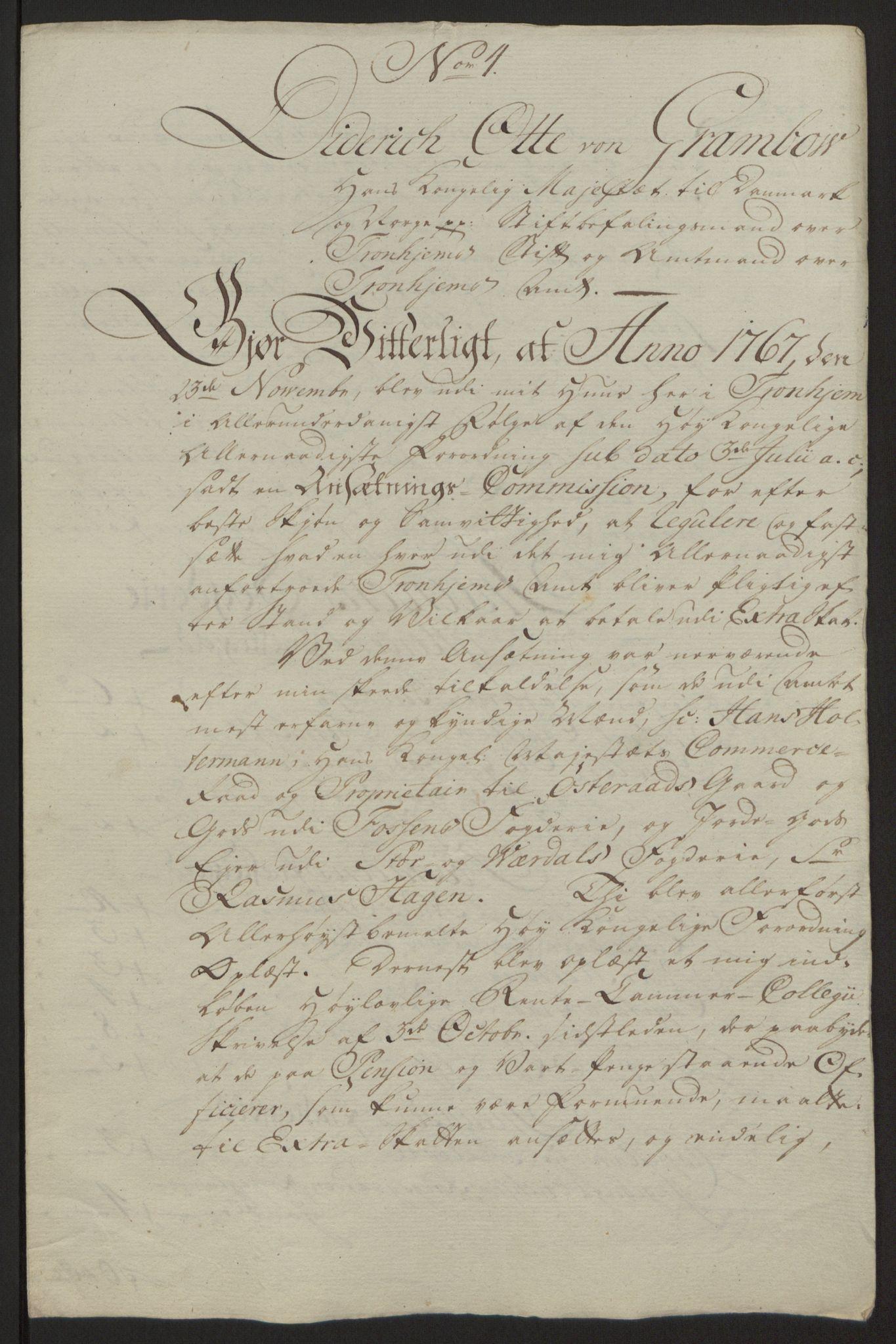 RA, Rentekammeret inntil 1814, Reviderte regnskaper, Fogderegnskap, R63/L4420: Ekstraskatten Inderøy, 1762-1772, s. 365