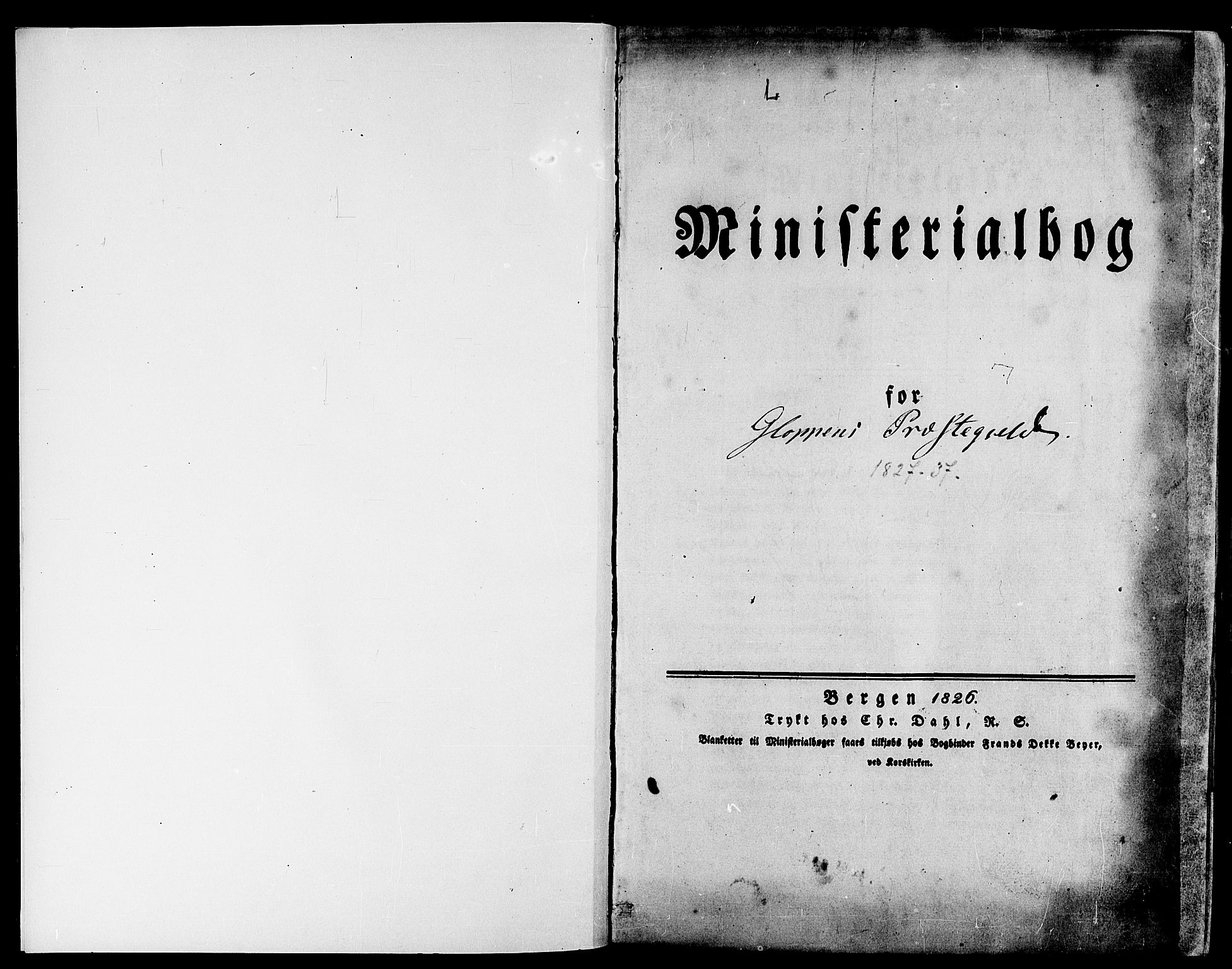 SAB, Gloppen Sokneprestembete, H/Haa/Haaa/L0007: Ministerialbok nr. A 7, 1827-1837