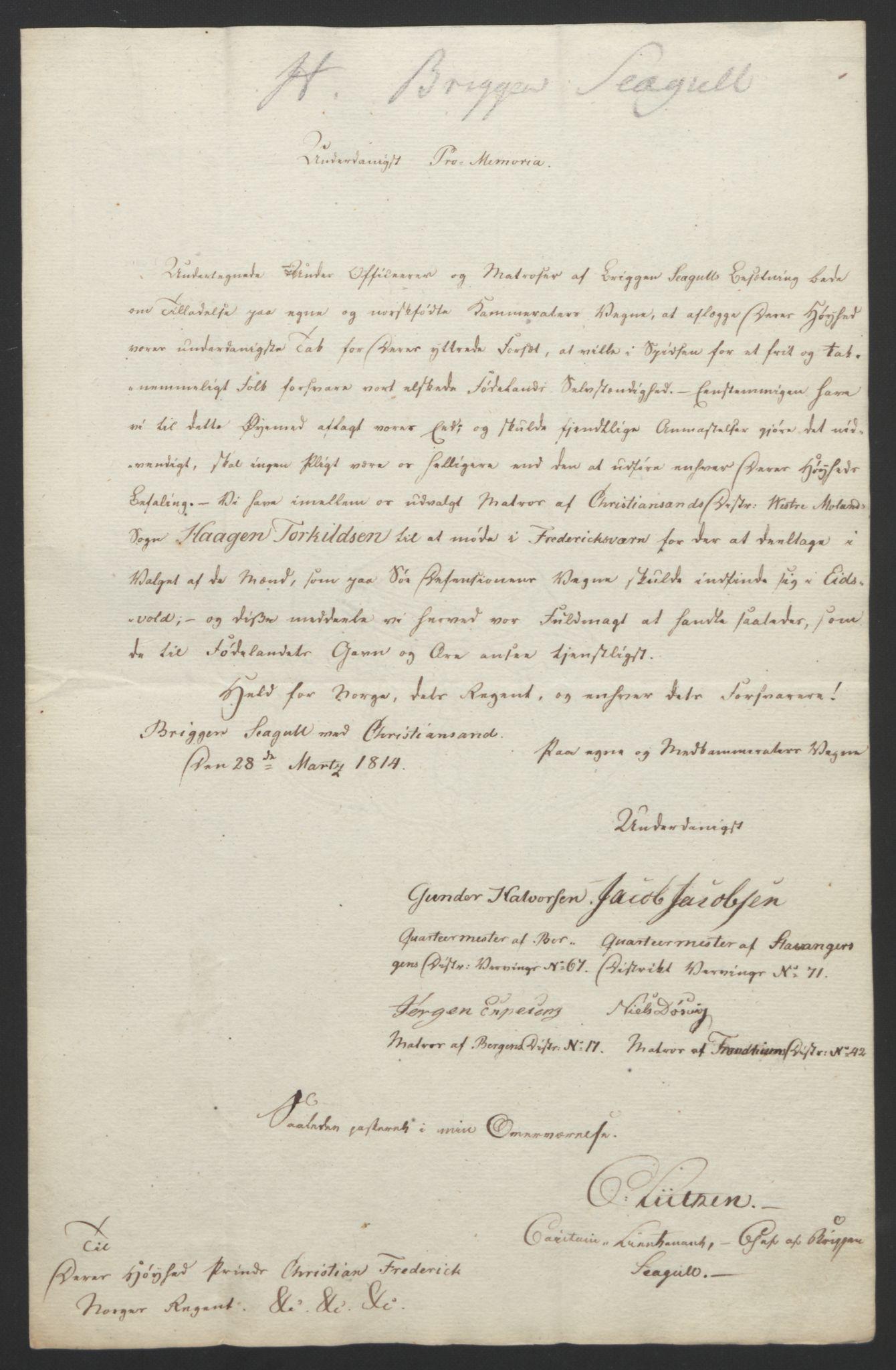 RA, Statsrådssekretariatet, D/Db/L0007: Fullmakter for Eidsvollsrepresentantene i 1814. , 1814, s. 136