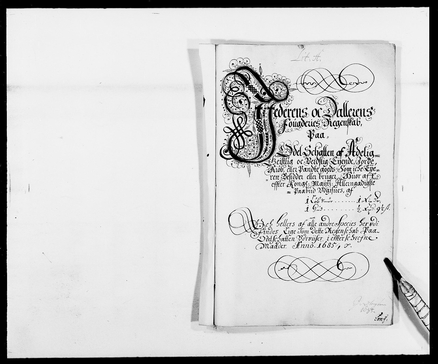 RA, Rentekammeret inntil 1814, Reviderte regnskaper, Fogderegnskap, R46/L2725: Fogderegnskap Jæren og Dalane, 1685, s. 13
