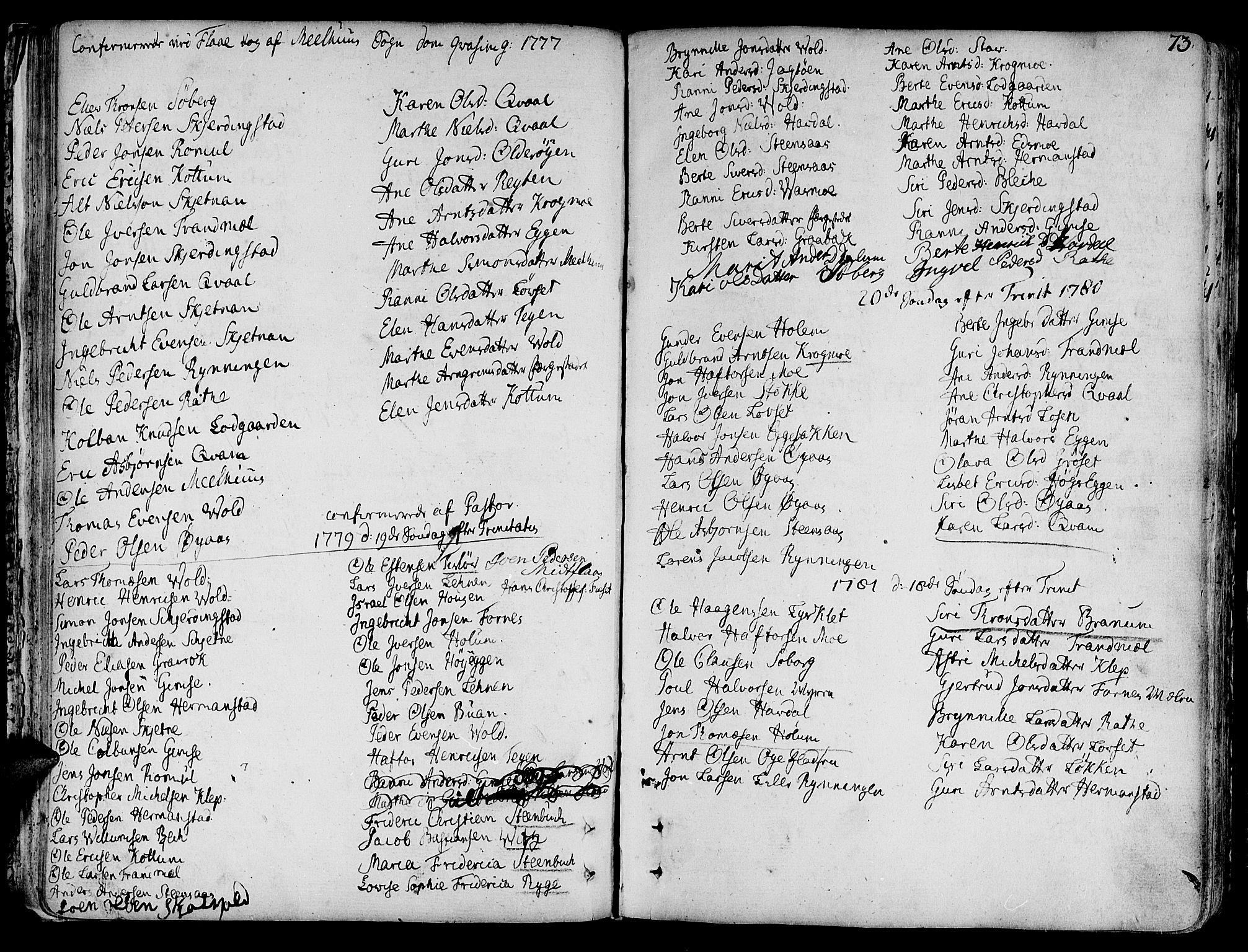 SAT, Ministerialprotokoller, klokkerbøker og fødselsregistre - Sør-Trøndelag, 691/L1061: Ministerialbok nr. 691A02 /1, 1768-1815, s. 73