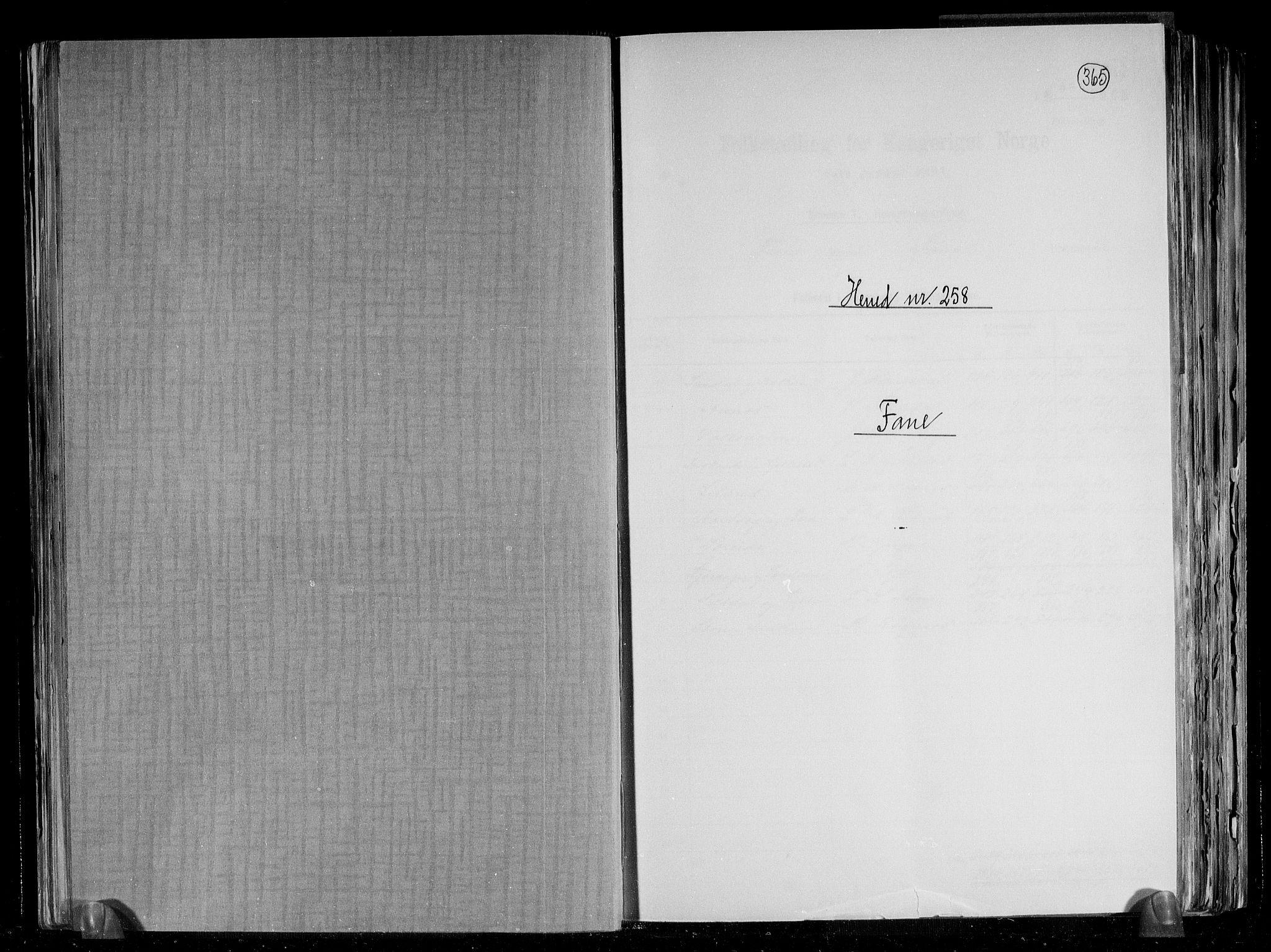 RA, Folketelling 1891 for 1249 Fana herred, 1891, s. 1