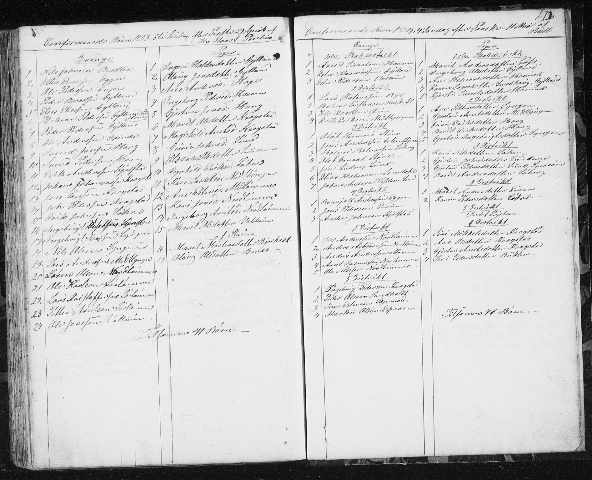 SAT, Ministerialprotokoller, klokkerbøker og fødselsregistre - Sør-Trøndelag, 692/L1110: Klokkerbok nr. 692C05, 1849-1889, s. 272