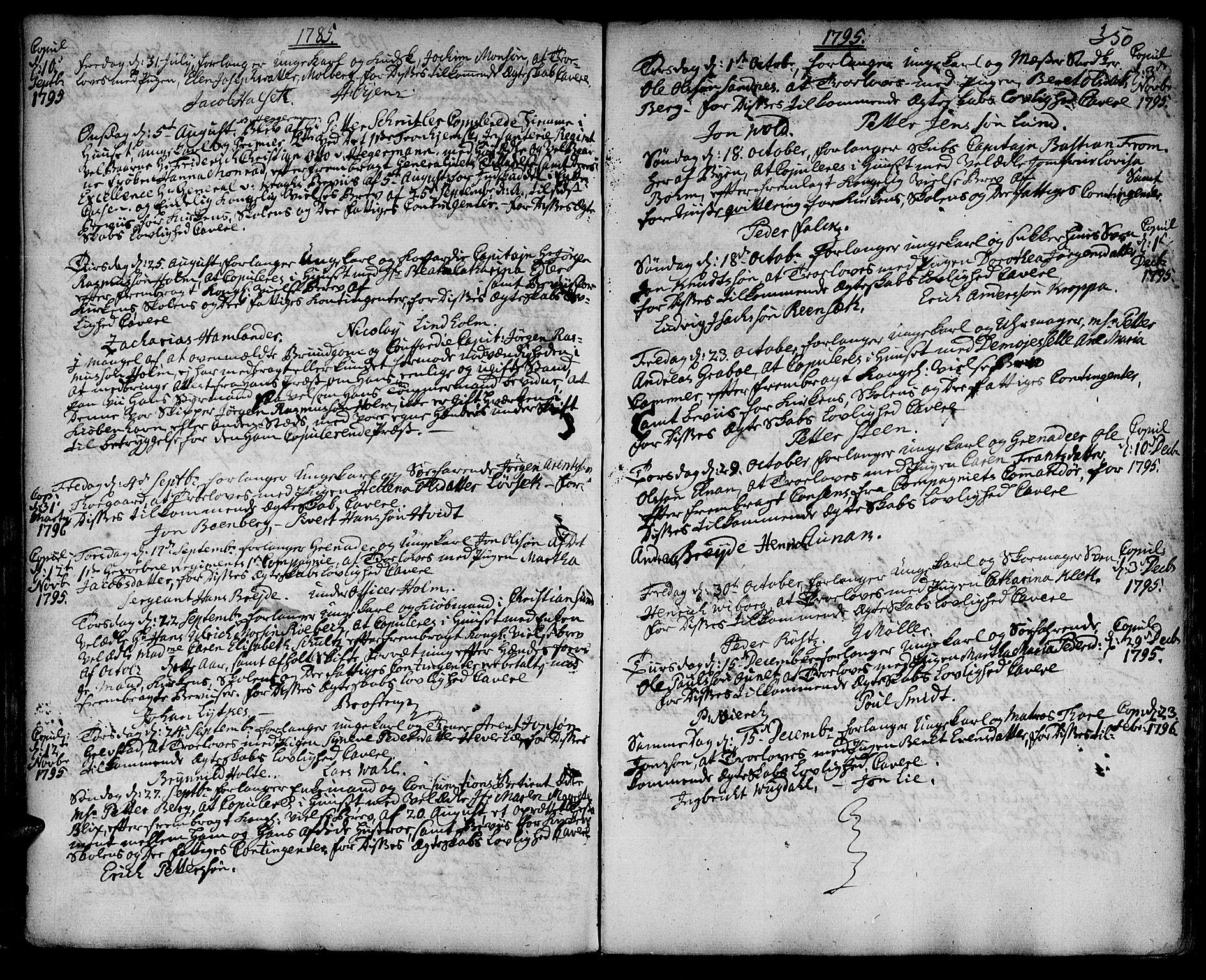 SAT, Ministerialprotokoller, klokkerbøker og fødselsregistre - Sør-Trøndelag, 601/L0038: Ministerialbok nr. 601A06, 1766-1877, s. 350