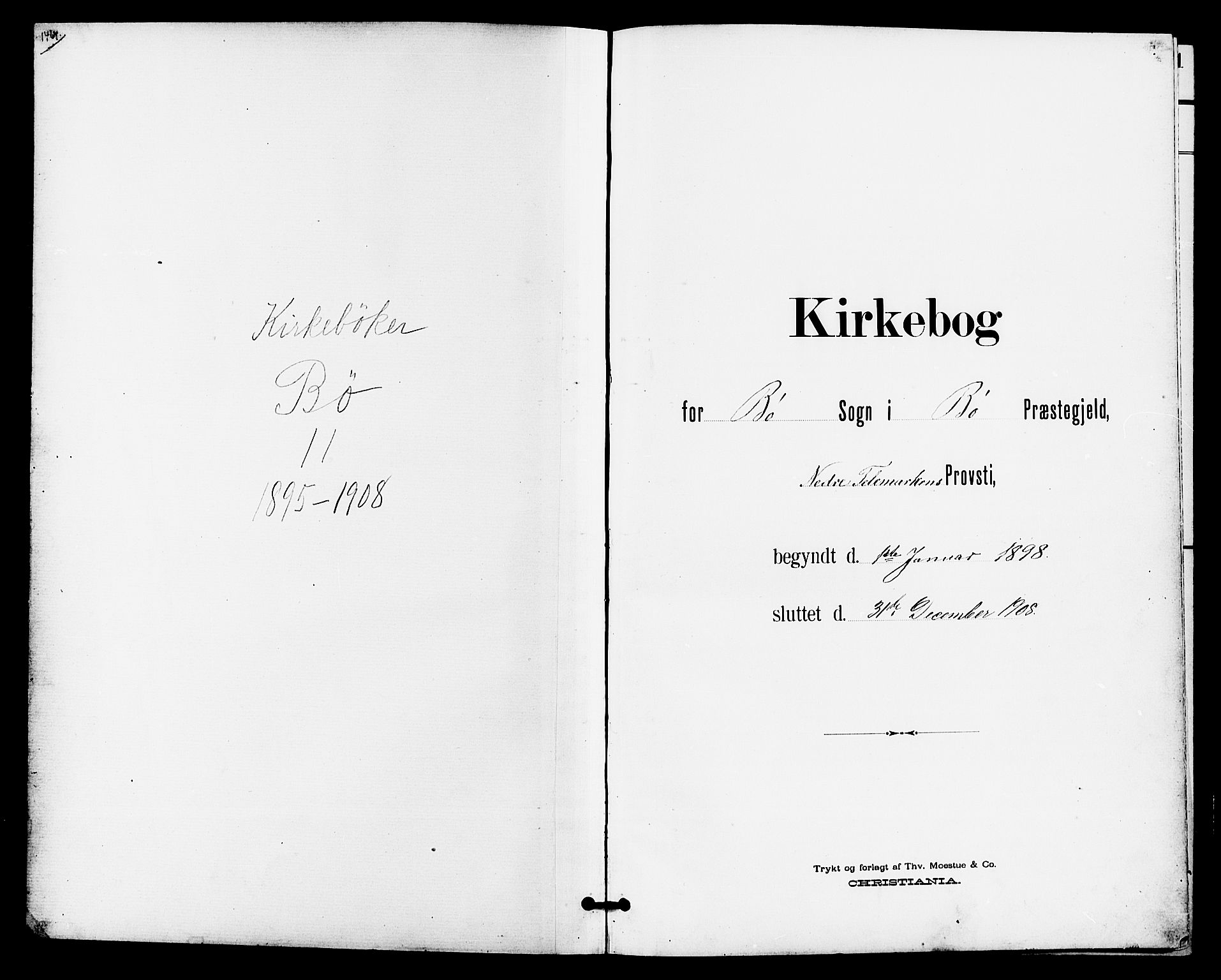 SAKO, Bø kirkebøker, G/Ga/L0006: Klokkerbok nr. 6, 1898-1909