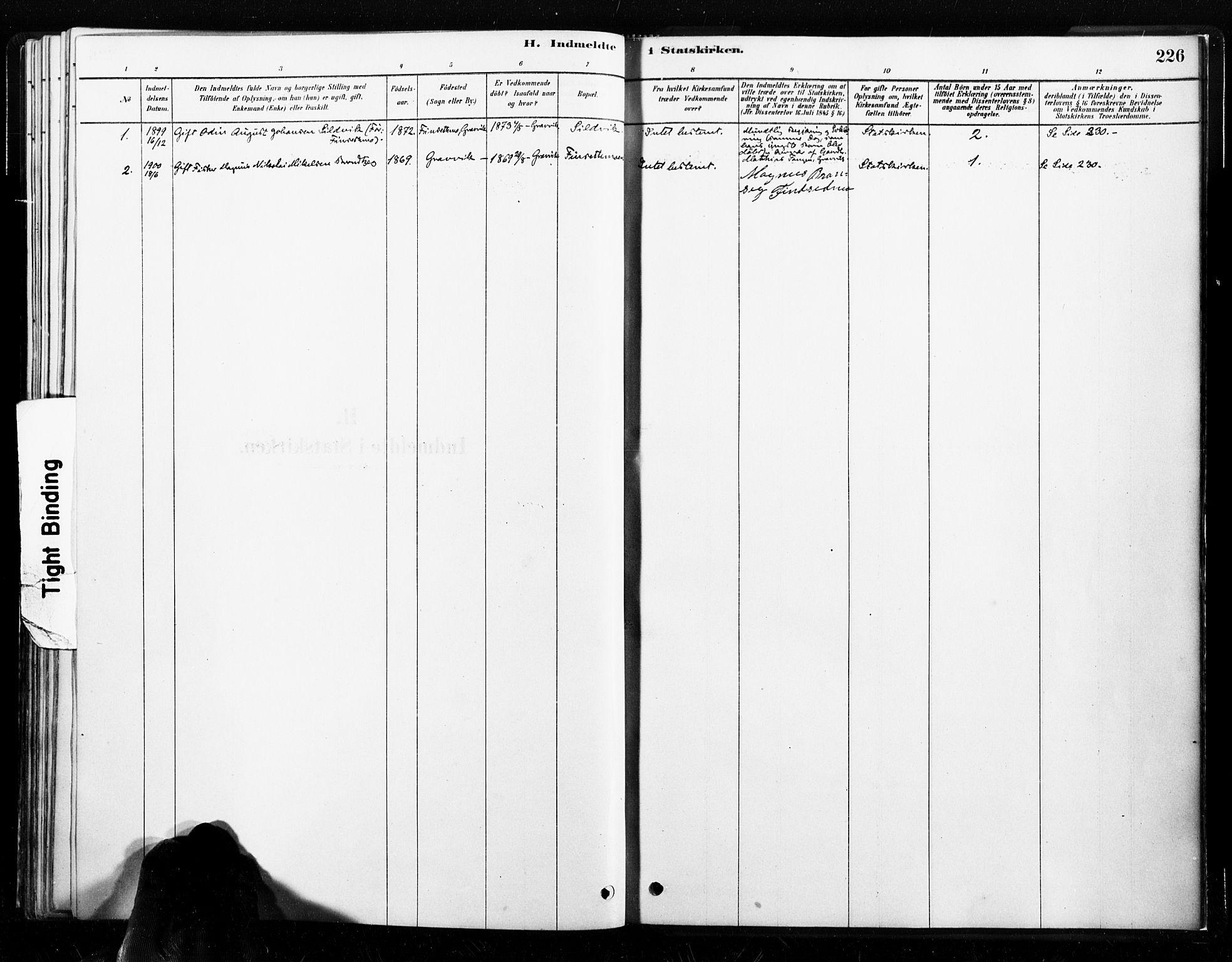 SAT, Ministerialprotokoller, klokkerbøker og fødselsregistre - Nord-Trøndelag, 789/L0705: Ministerialbok nr. 789A01, 1878-1910, s. 226