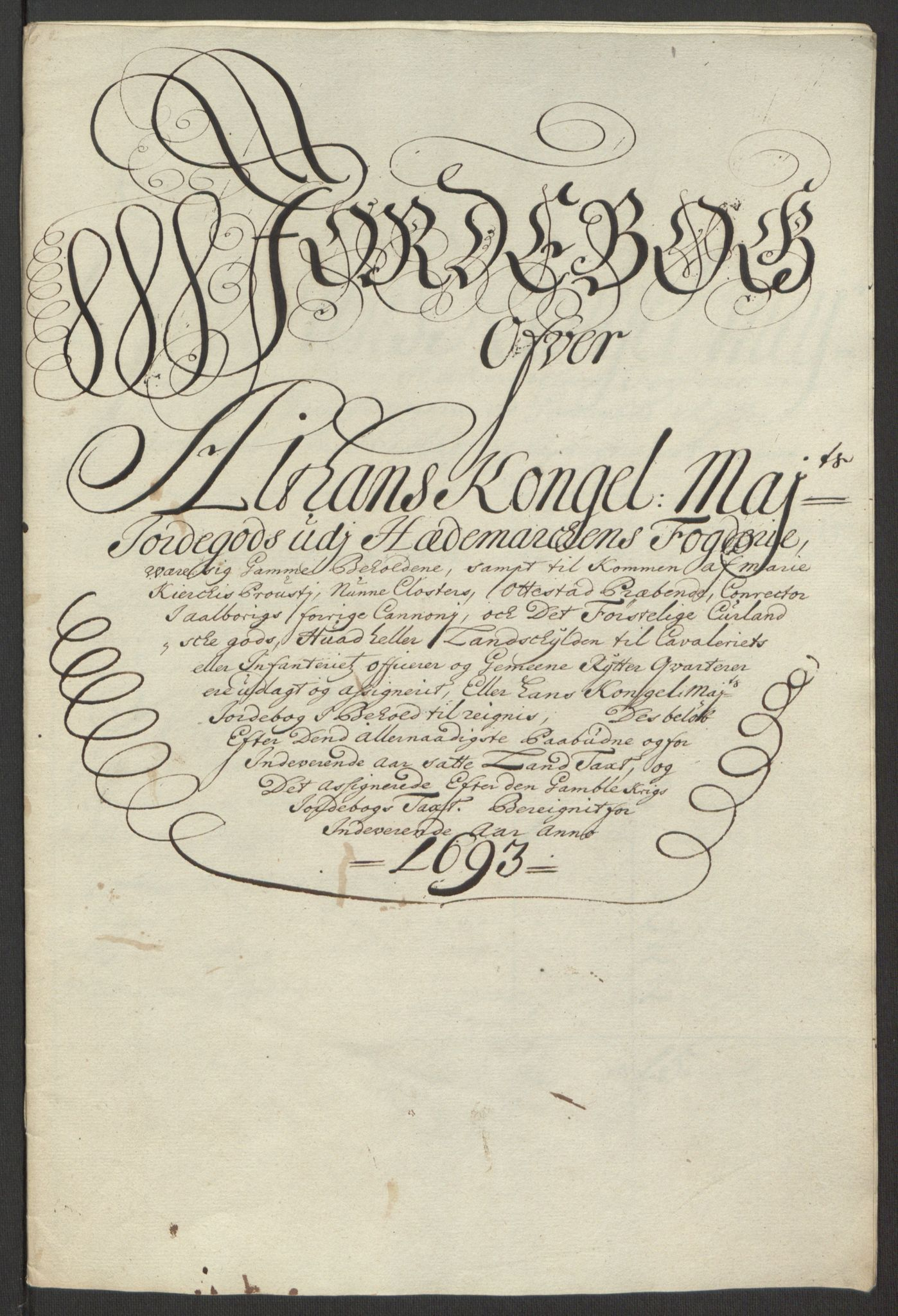 RA, Rentekammeret inntil 1814, Reviderte regnskaper, Fogderegnskap, R16/L1034: Fogderegnskap Hedmark, 1693, s. 33