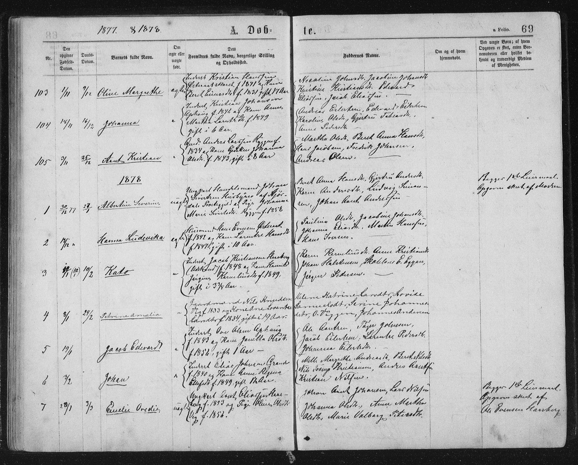 SAT, Ministerialprotokoller, klokkerbøker og fødselsregistre - Sør-Trøndelag, 659/L0745: Klokkerbok nr. 659C02, 1869-1892, s. 69