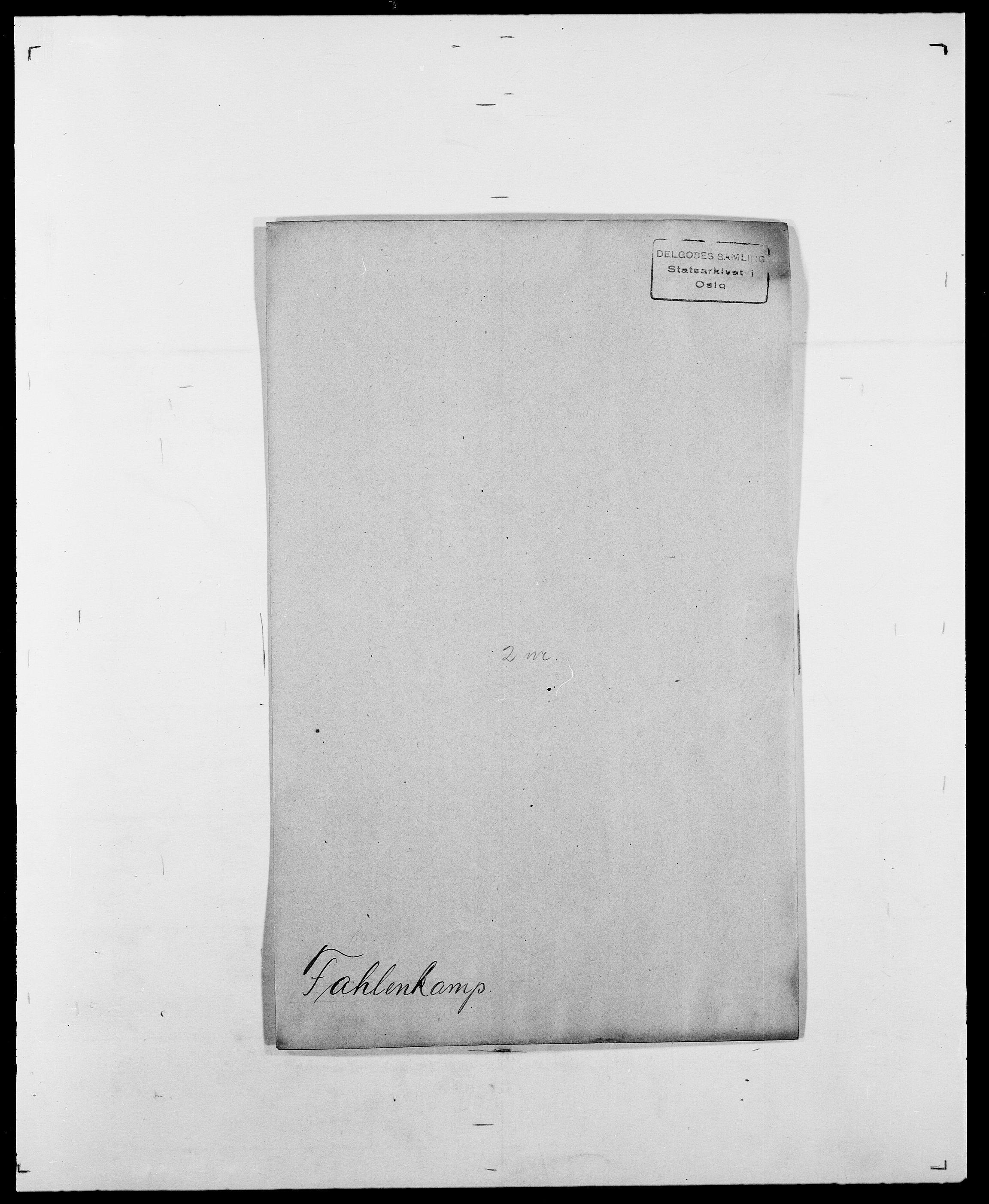 SAO, Delgobe, Charles Antoine - samling, D/Da/L0011: Fahlander - Flood, Flod, s. 3
