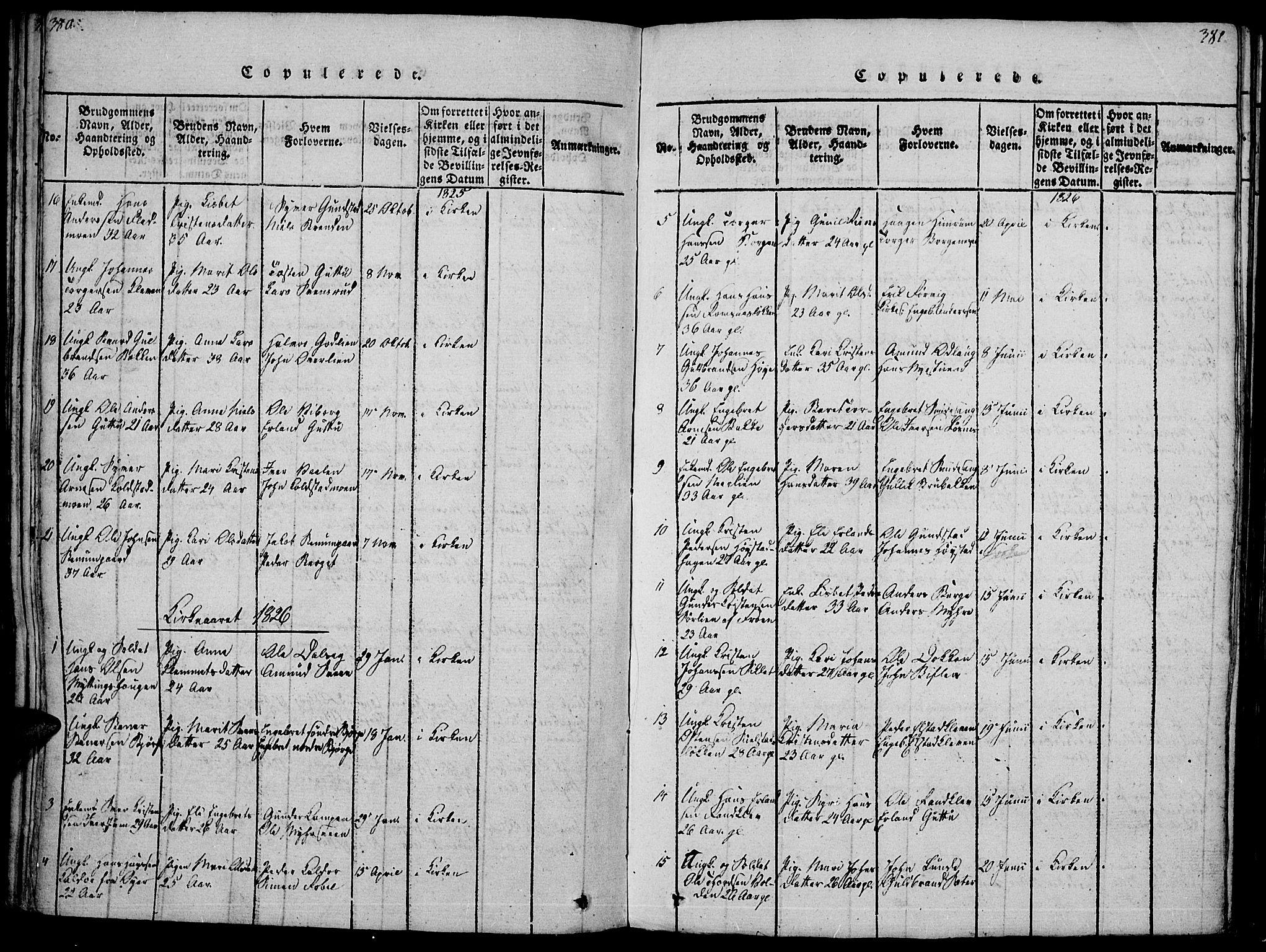SAH, Ringebu prestekontor, Ministerialbok nr. 4, 1821-1839, s. 380-381
