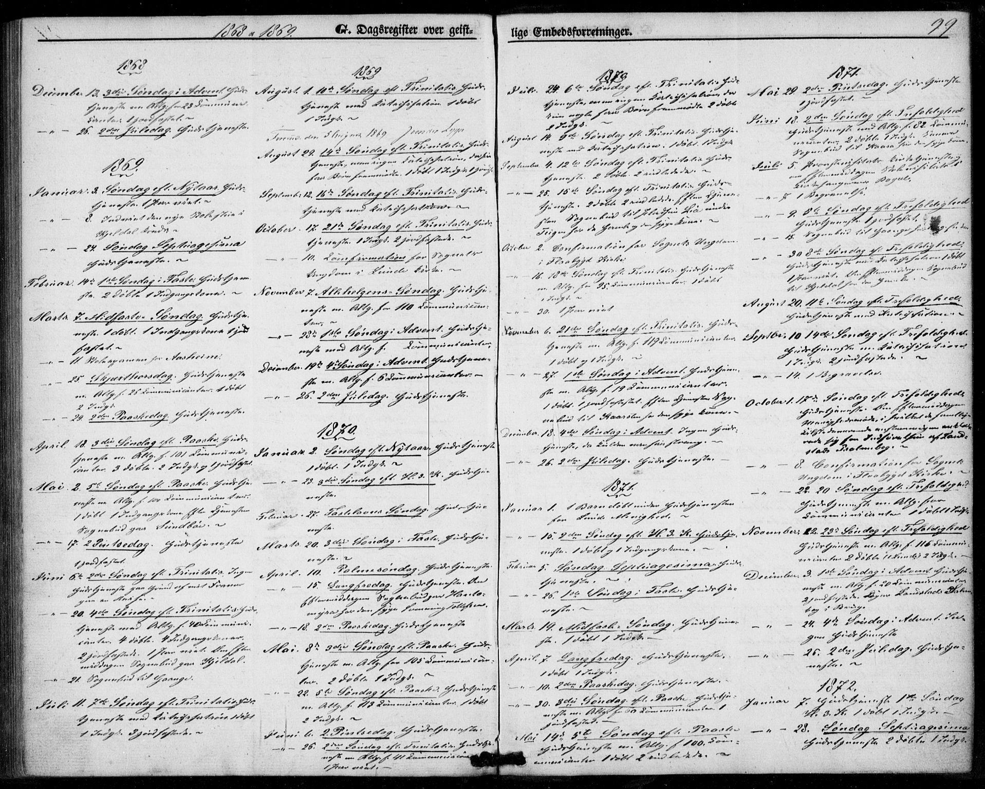 SAKO, Lunde kirkebøker, F/Fb/L0002: Ministerialbok nr. II 2, 1861-1881, s. 99
