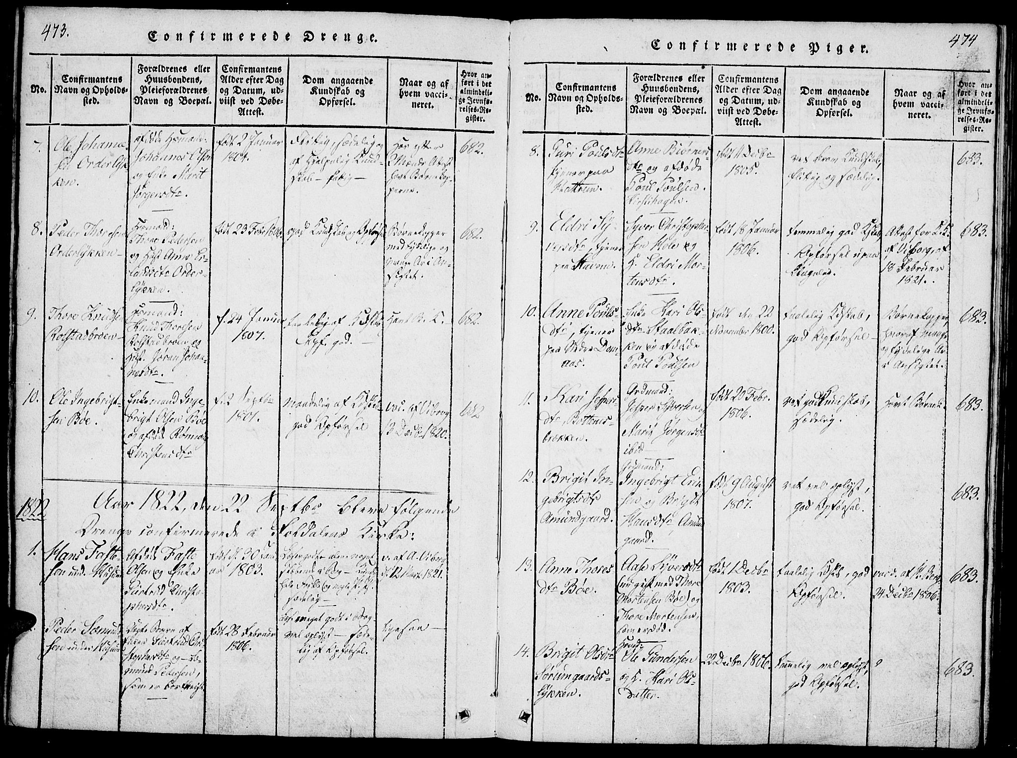 SAH, Lesja prestekontor, Ministerialbok nr. 4, 1820-1829, s. 473-474
