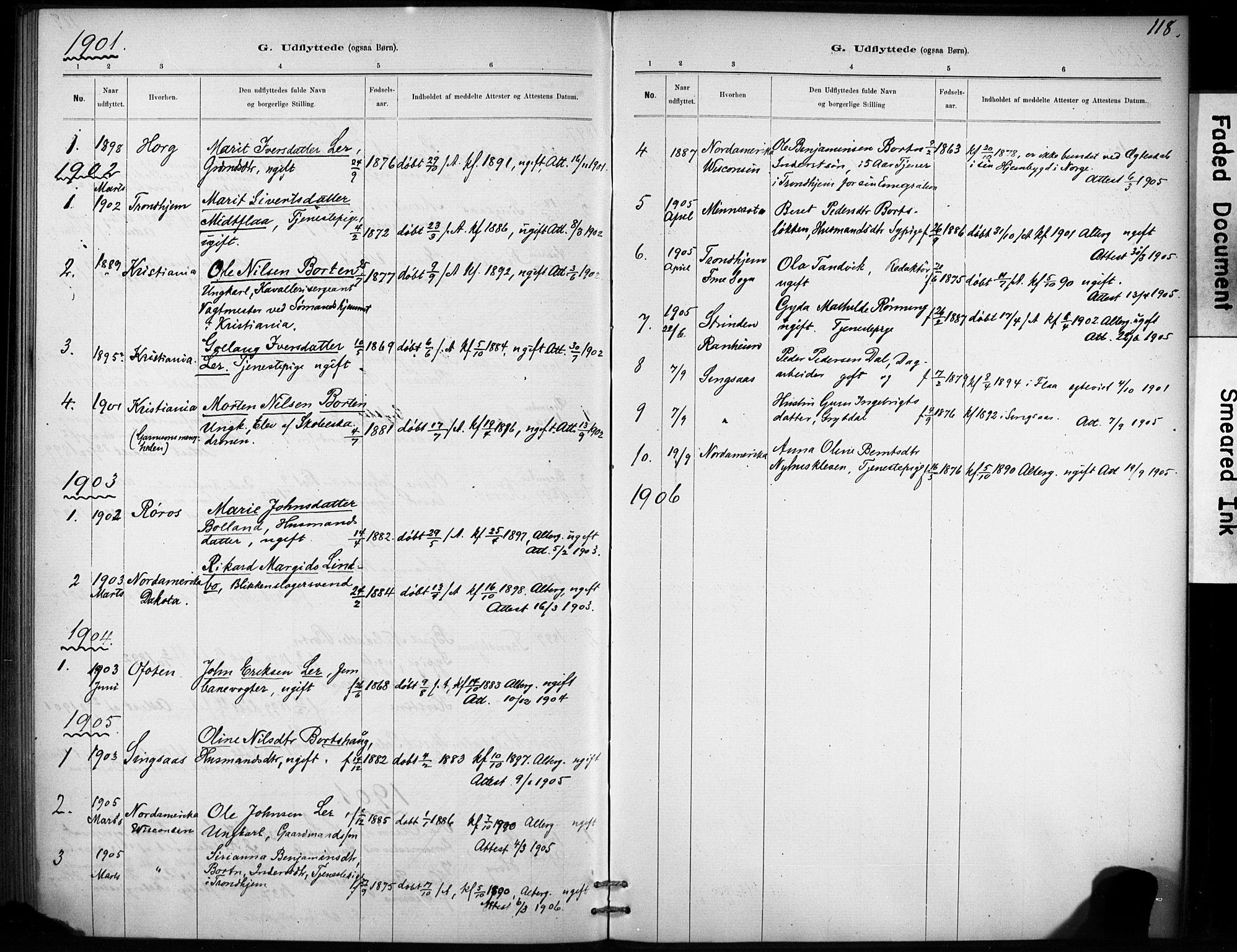 SAT, Ministerialprotokoller, klokkerbøker og fødselsregistre - Sør-Trøndelag, 693/L1119: Ministerialbok nr. 693A01, 1887-1905, s. 118
