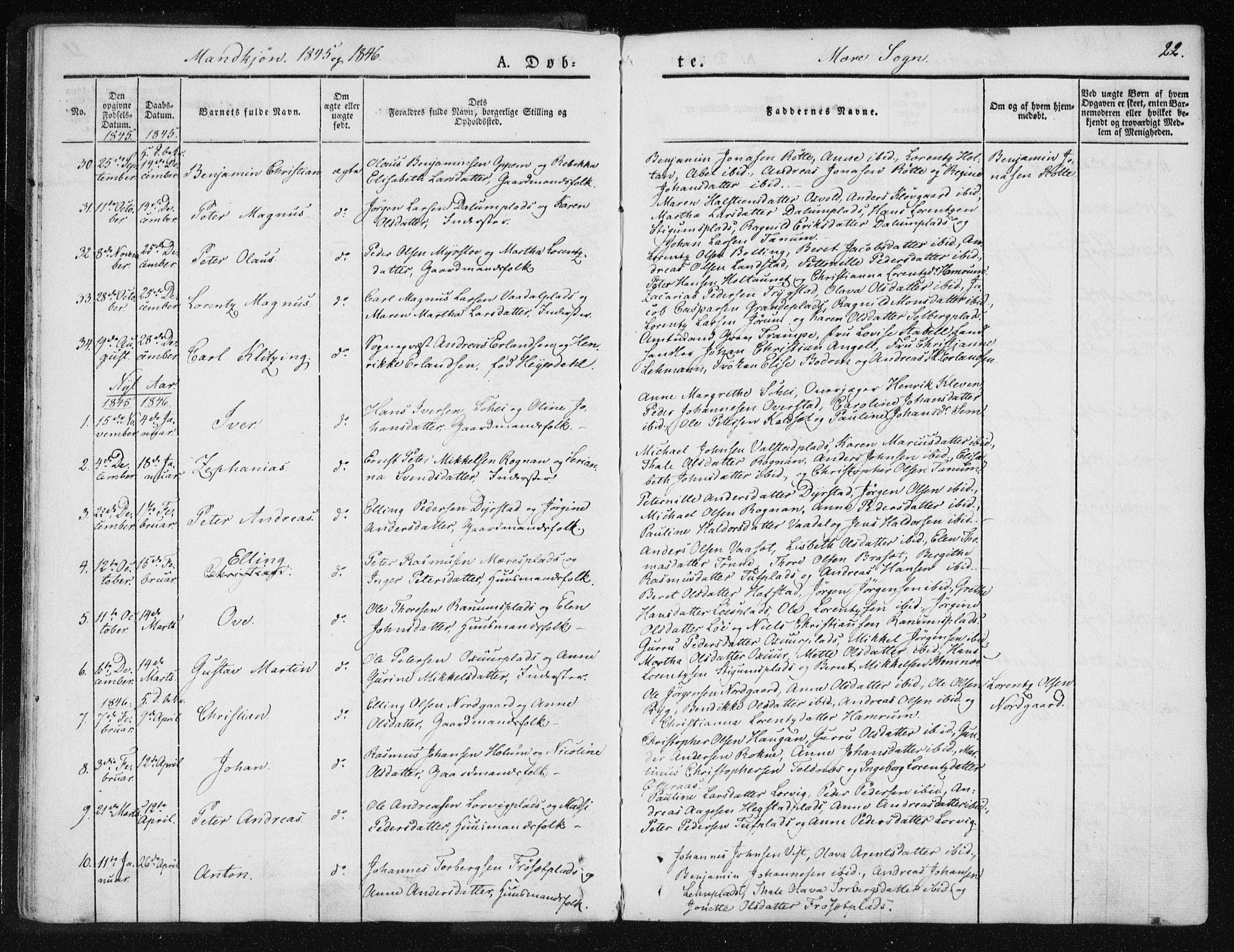 SAT, Ministerialprotokoller, klokkerbøker og fødselsregistre - Nord-Trøndelag, 735/L0339: Ministerialbok nr. 735A06 /1, 1836-1848, s. 22