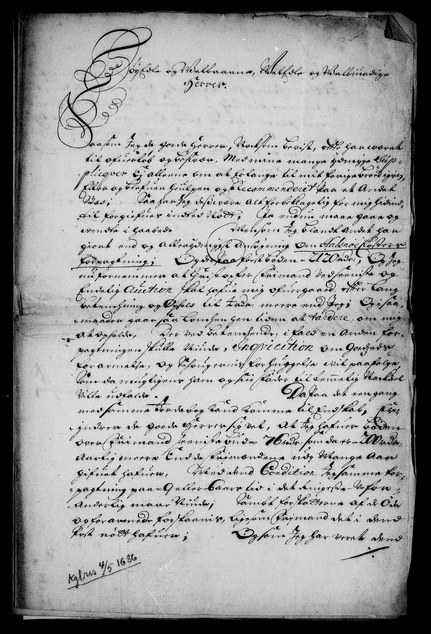RA, Rentekammeret inntil 1814, Realistisk ordnet avdeling, On/L0005: [Jj 6]: Forskjellige dokumenter om Halsnøy klosters gods, 1697-1770, s. 2