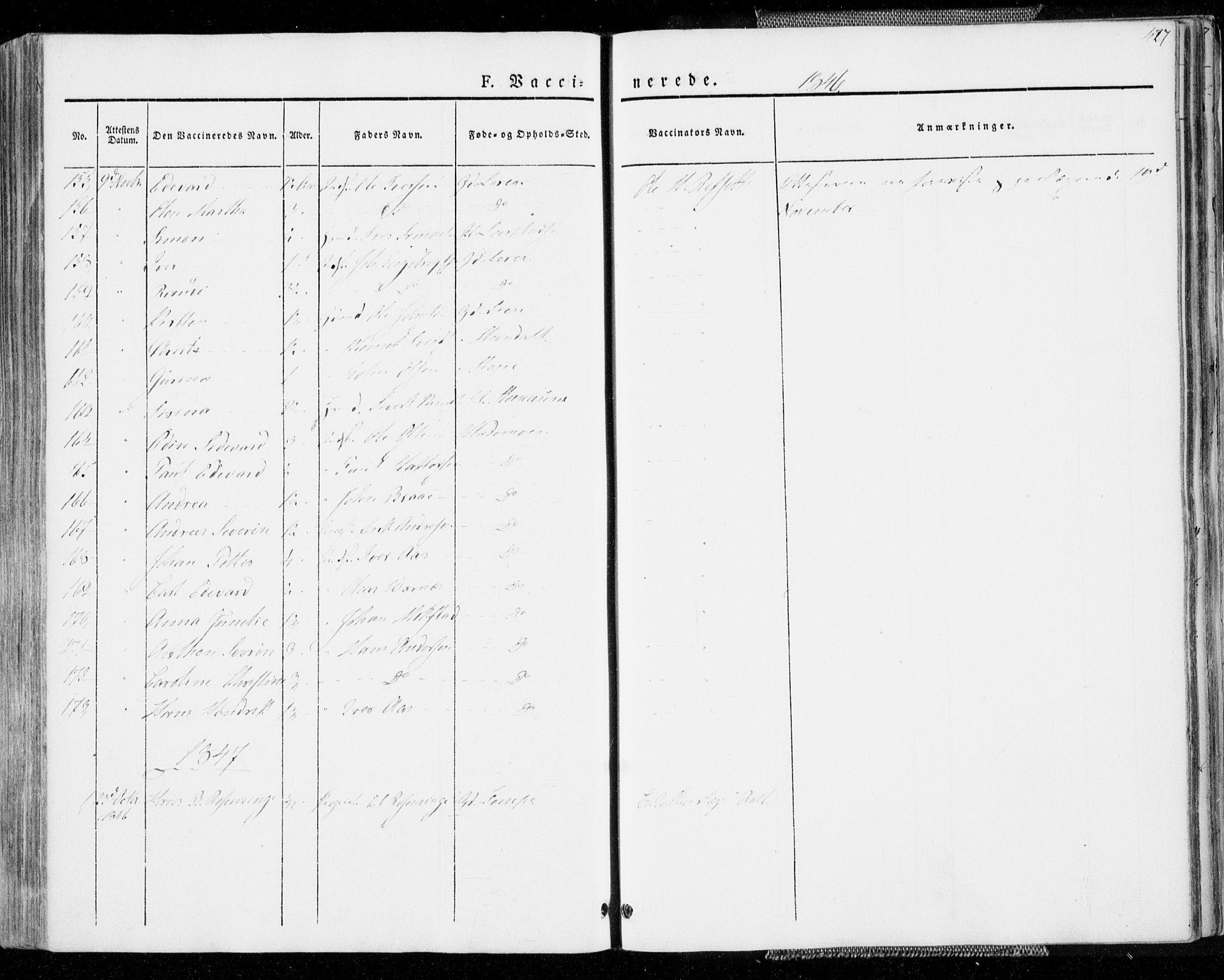 SAT, Ministerialprotokoller, klokkerbøker og fødselsregistre - Sør-Trøndelag, 606/L0290: Ministerialbok nr. 606A05, 1841-1847, s. 427