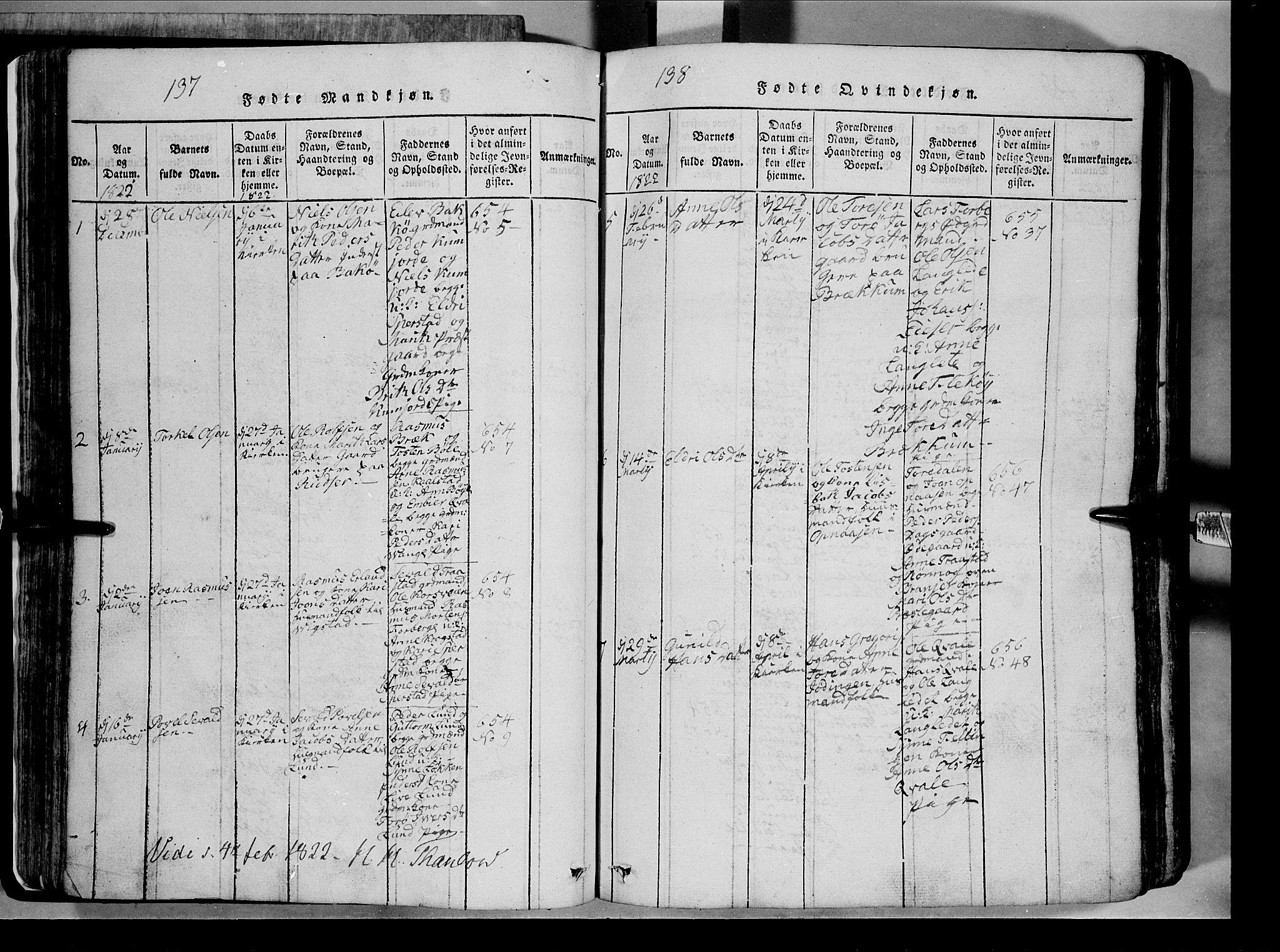 SAH, Lom prestekontor, L/L0003: Klokkerbok nr. 3, 1815-1844, s. 137-138