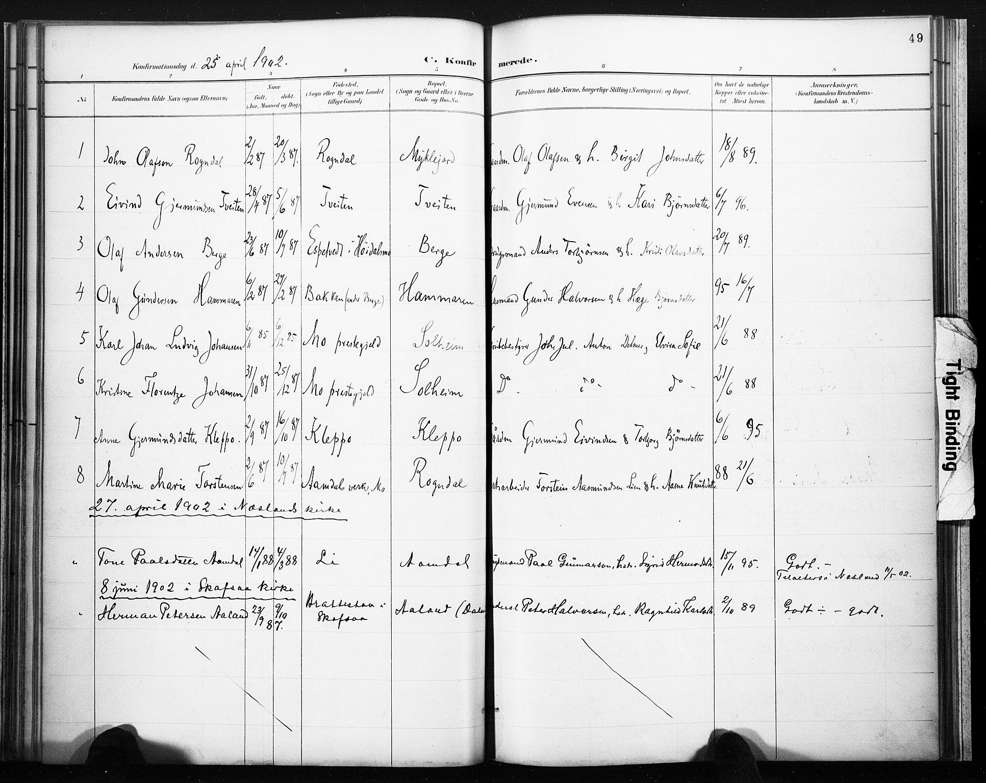 SAKO, Lårdal kirkebøker, F/Fb/L0002: Ministerialbok nr. II 2, 1887-1918, s. 49