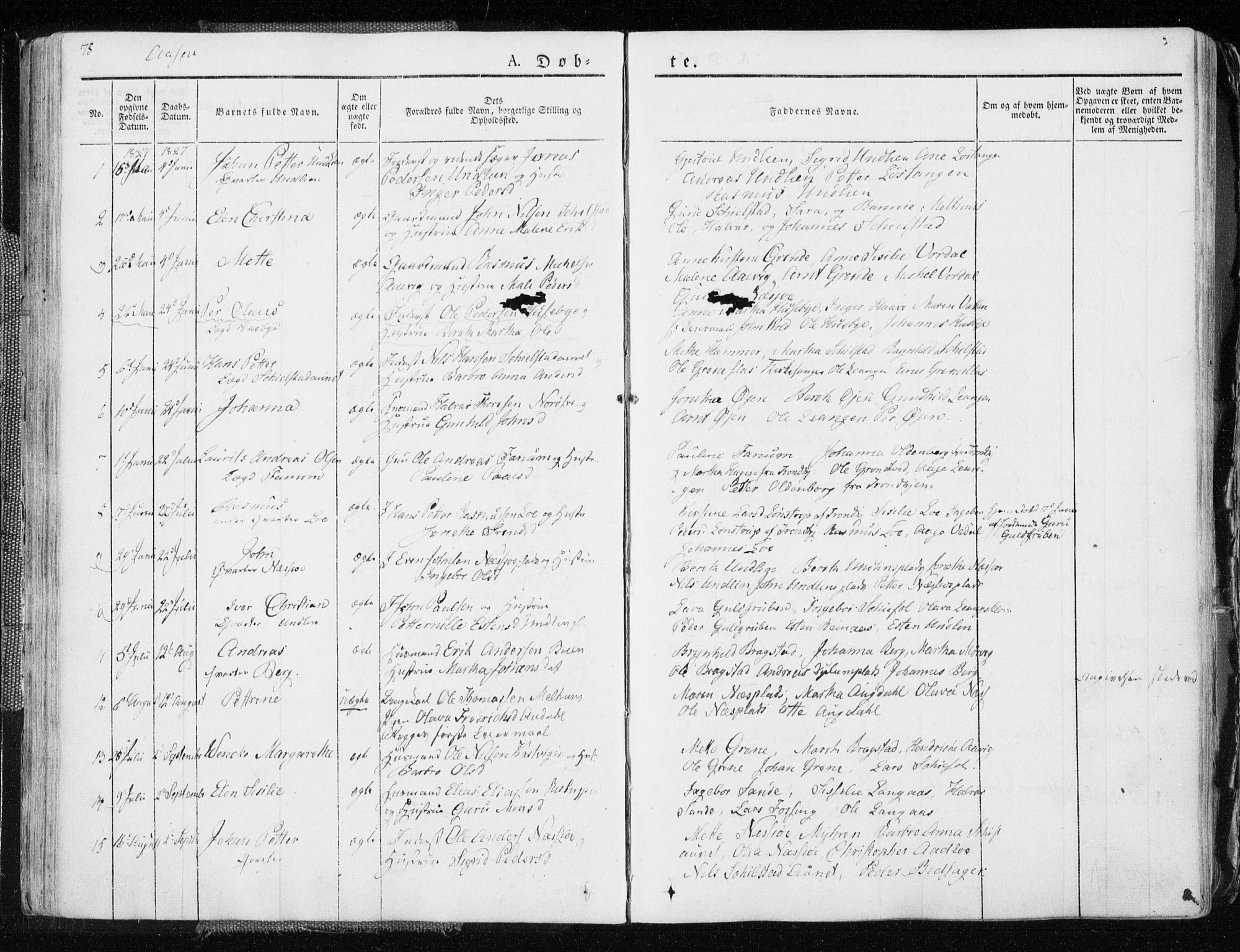SAT, Ministerialprotokoller, klokkerbøker og fødselsregistre - Nord-Trøndelag, 713/L0114: Ministerialbok nr. 713A05, 1827-1839, s. 78