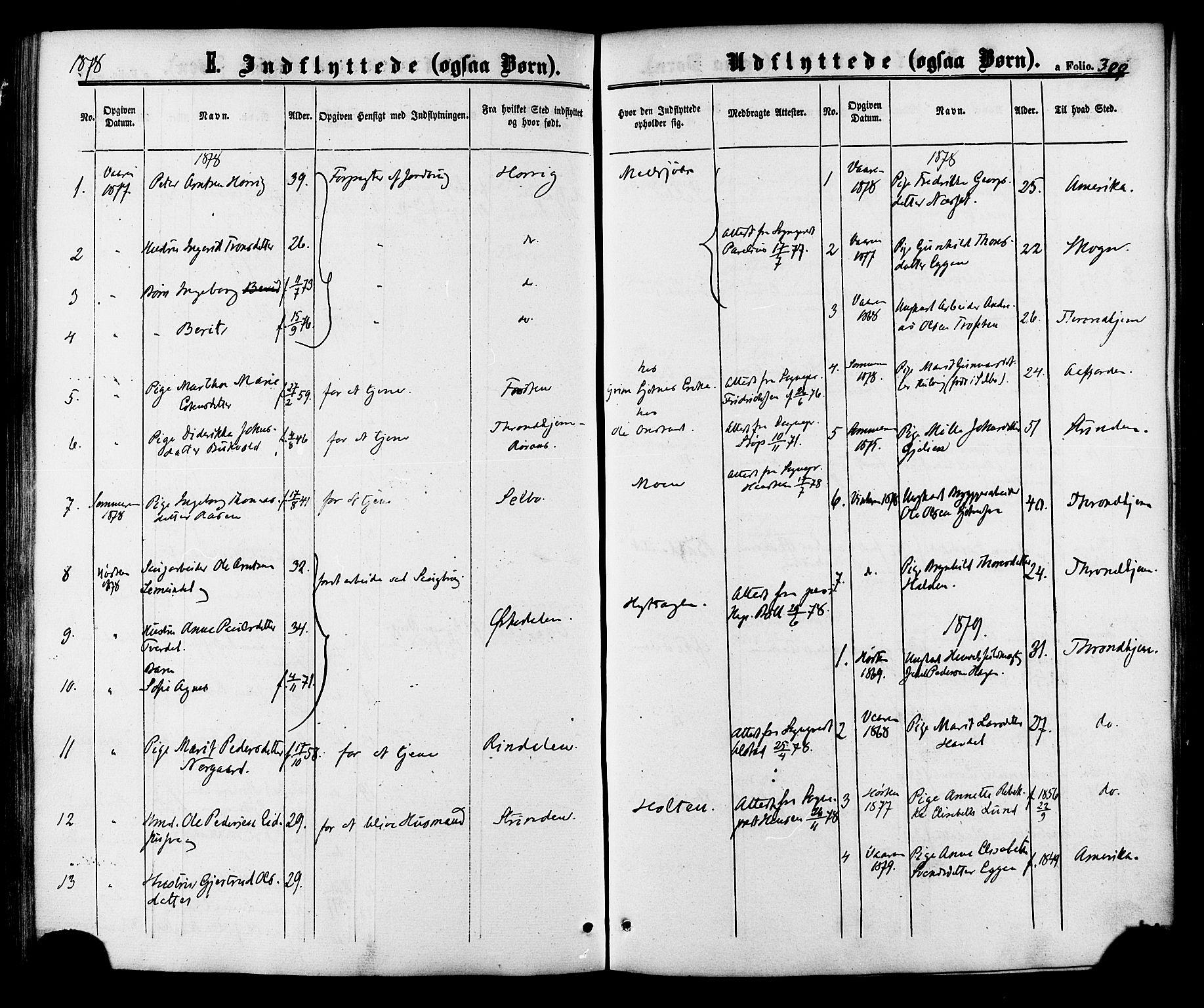 SAT, Ministerialprotokoller, klokkerbøker og fødselsregistre - Sør-Trøndelag, 618/L0442: Ministerialbok nr. 618A06 /1, 1863-1879, s. 300