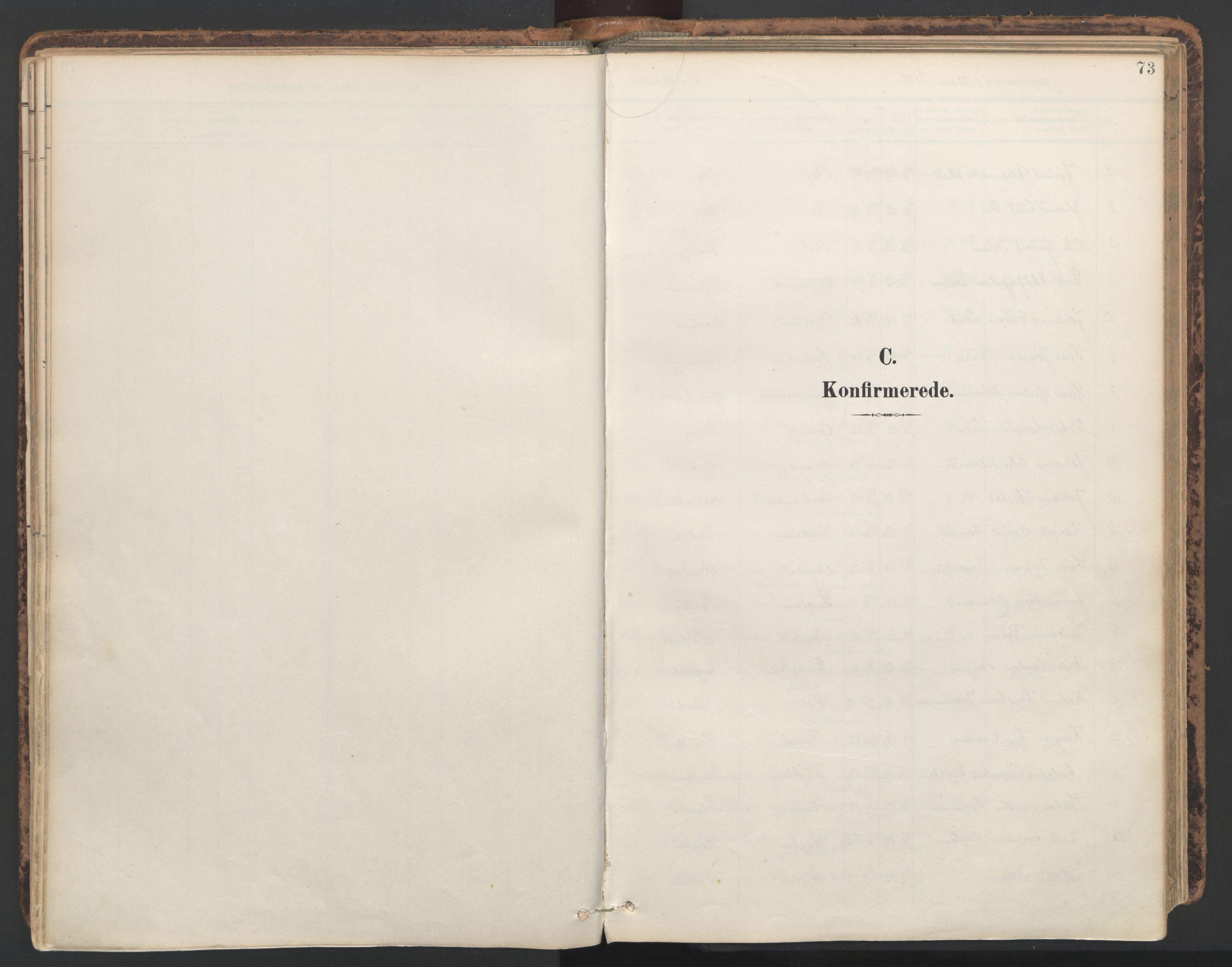 SAT, Ministerialprotokoller, klokkerbøker og fødselsregistre - Nord-Trøndelag, 764/L0556: Ministerialbok nr. 764A11, 1897-1924, s. 73