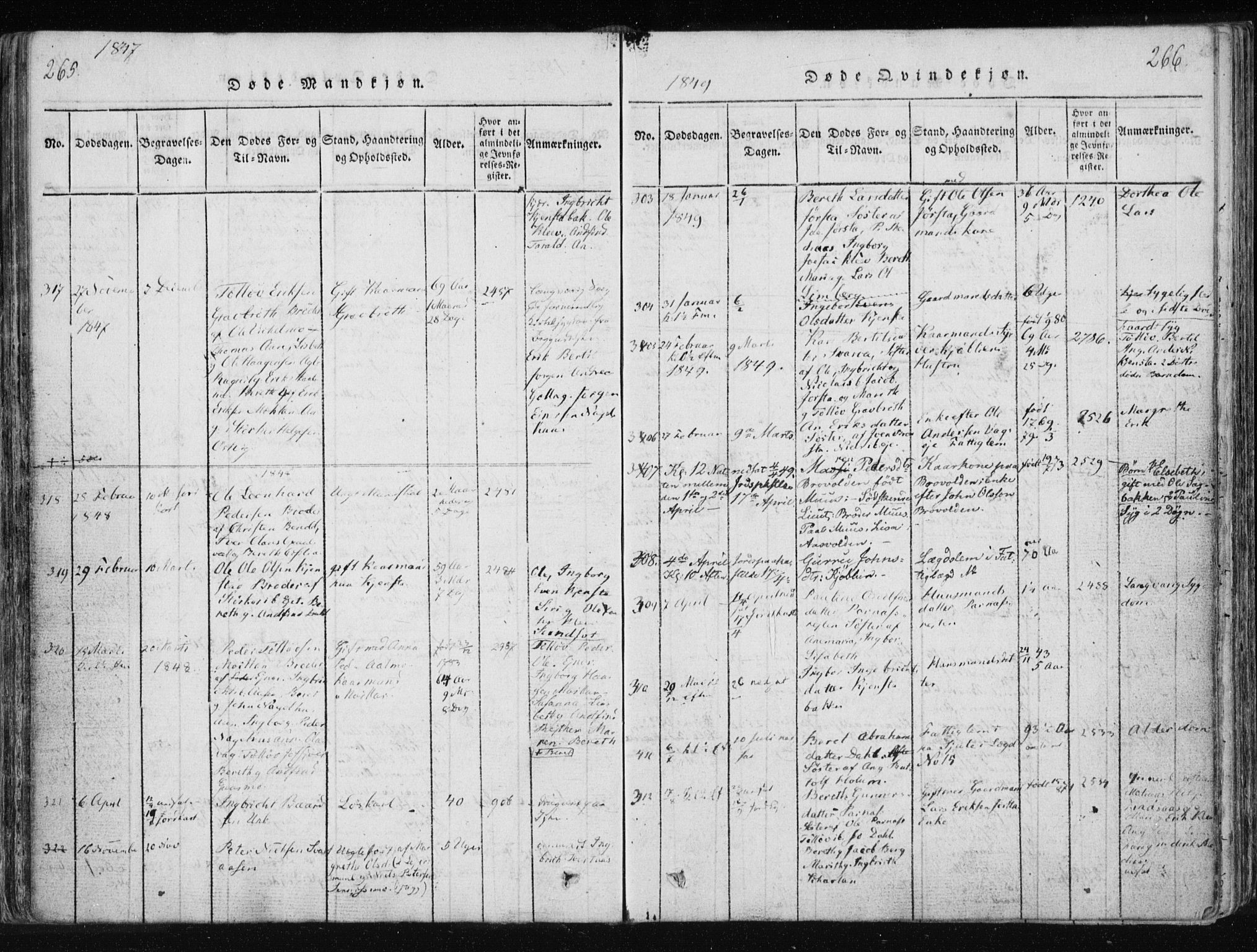SAT, Ministerialprotokoller, klokkerbøker og fødselsregistre - Nord-Trøndelag, 749/L0469: Ministerialbok nr. 749A03, 1817-1857, s. 265-266