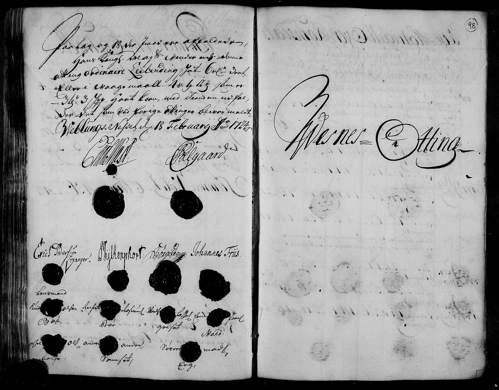 RA, Rentekammeret inntil 1814, Realistisk ordnet avdeling, N/Nb/Nbf/L0153: Romsdal matrikkelprotokoll, 1724, s. 97b-98a