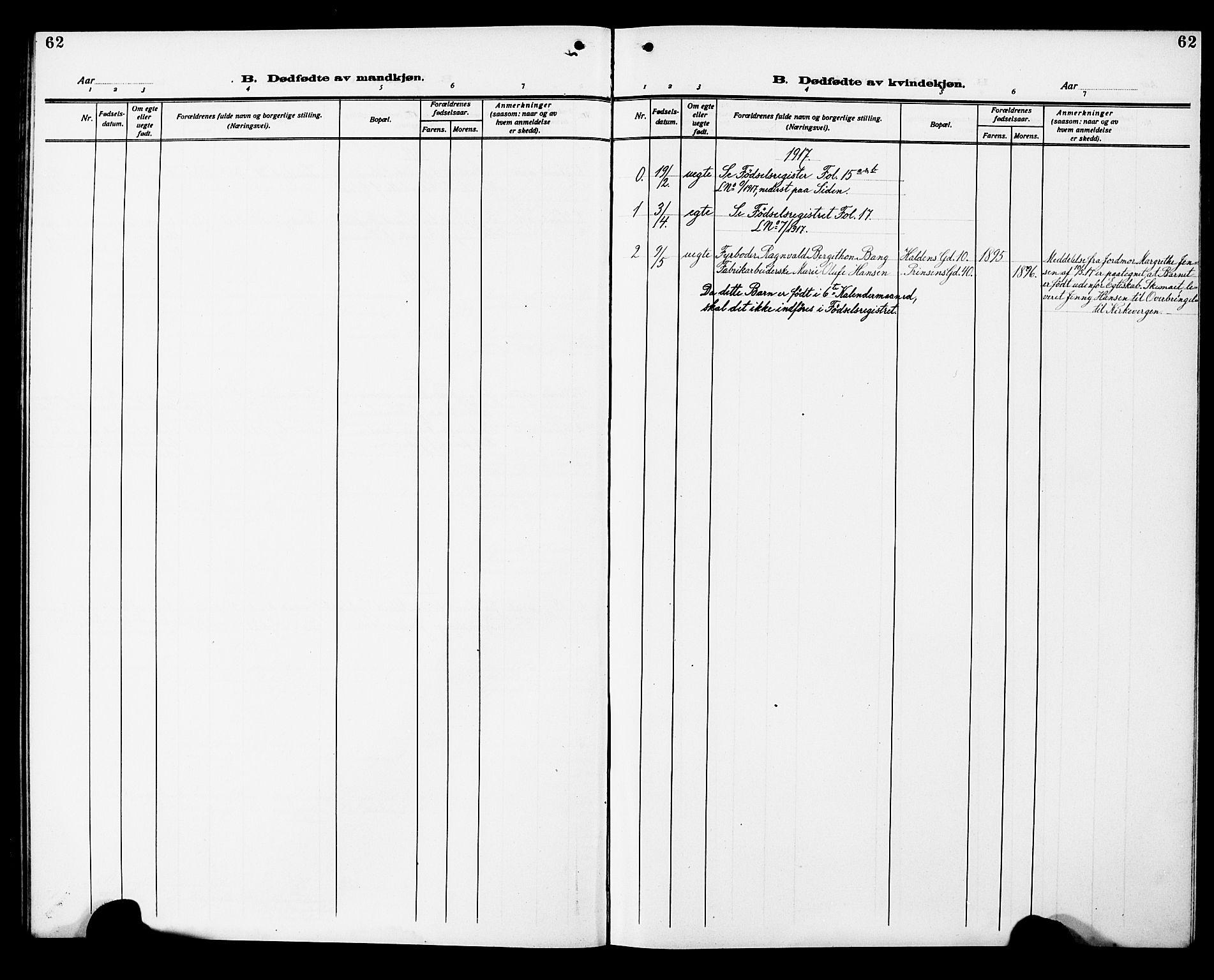 SAT, Ministerialprotokoller, klokkerbøker og fødselsregistre - Sør-Trøndelag, 602/L0147: Klokkerbok nr. 602C15, 1911-1924, s. 62