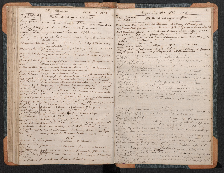 SAB, Hyllestad Sokneprestembete, Klokkerbok nr. C 2, 1874-1894, s. 125b-126a