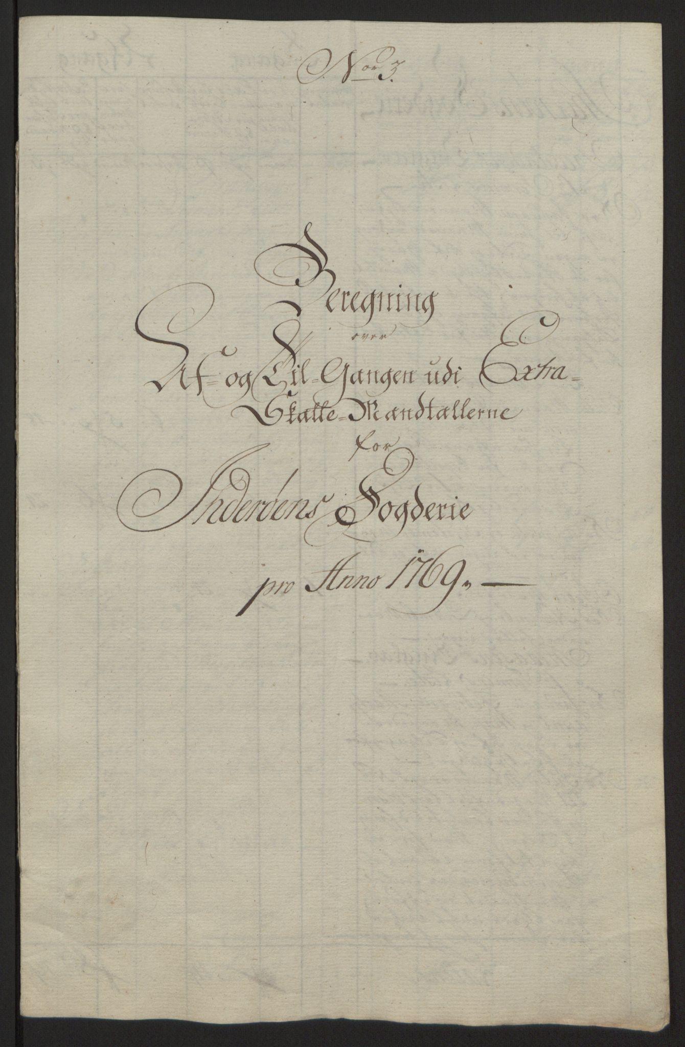 RA, Rentekammeret inntil 1814, Reviderte regnskaper, Fogderegnskap, R63/L4420: Ekstraskatten Inderøy, 1762-1772, s. 361